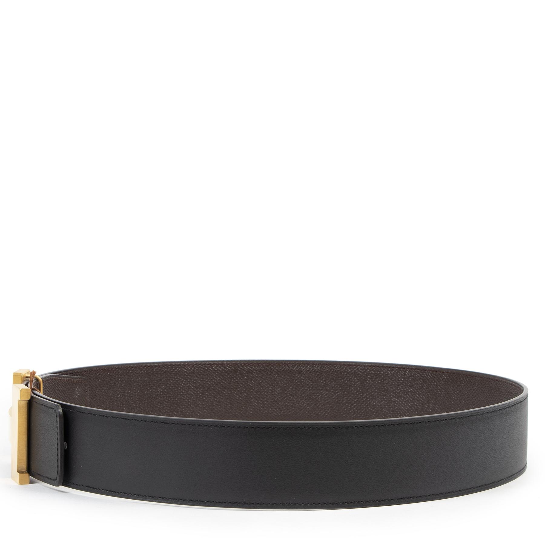 Authentique seconde-main vintage Hermès Reversible Gold Constance Belt - Size 80 achète en ligne webshop LabelLOV