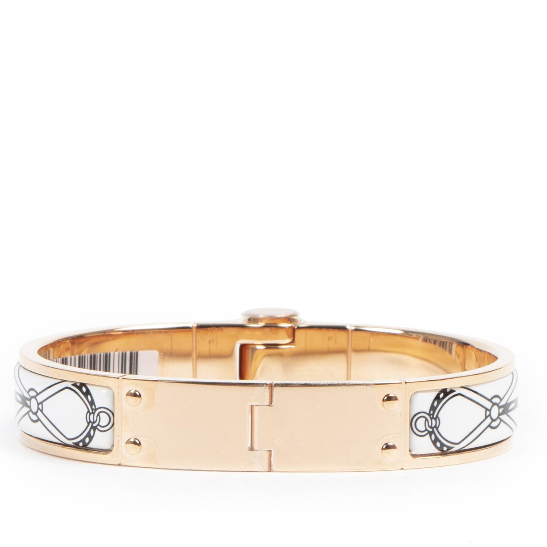 koop veilig online tegen de beste prijs Bracelet Charnière Cuirs Marins Email