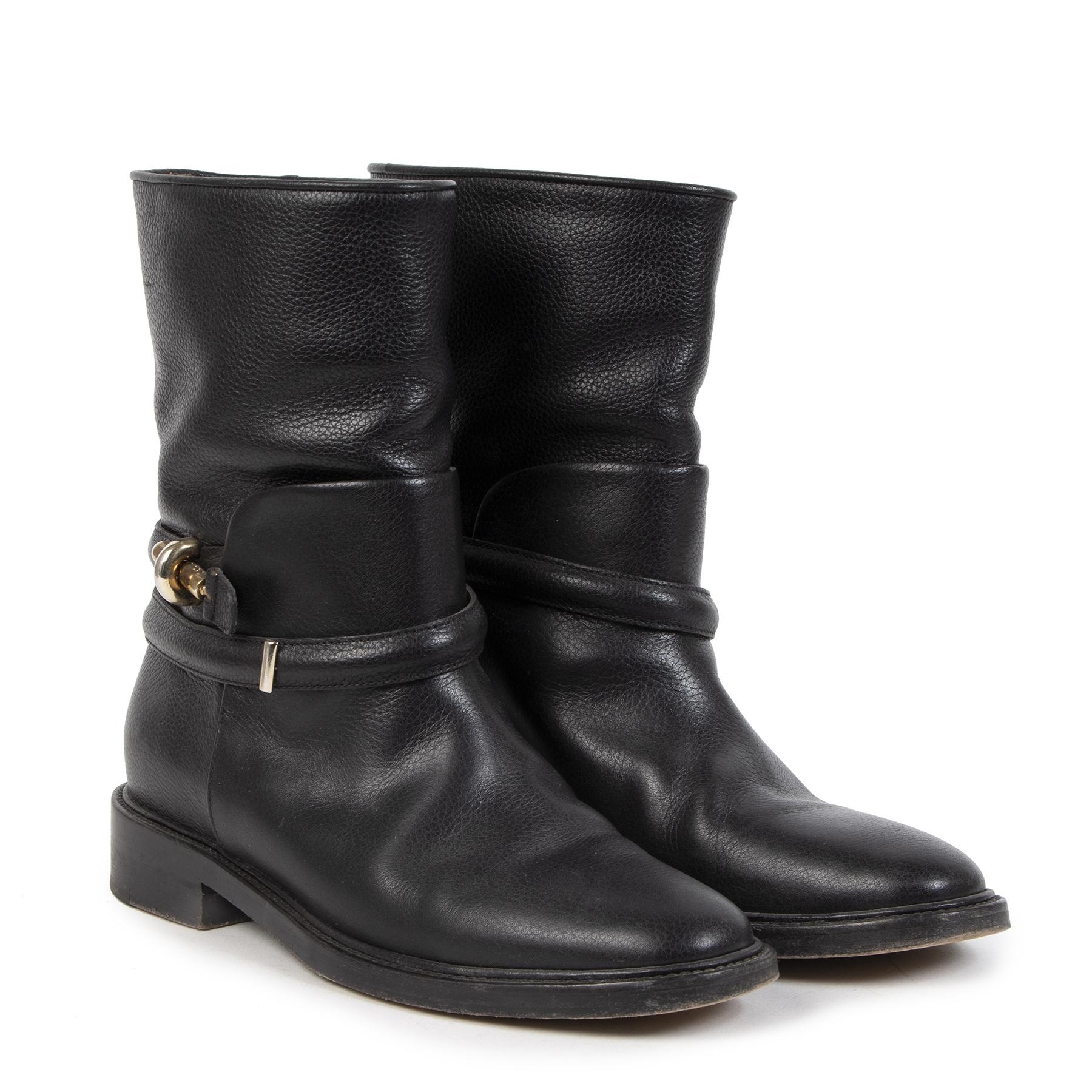 Authentieke tweedehands vintage Balenciaga Black Boots - Size 39 koop online webshop LabelLOV