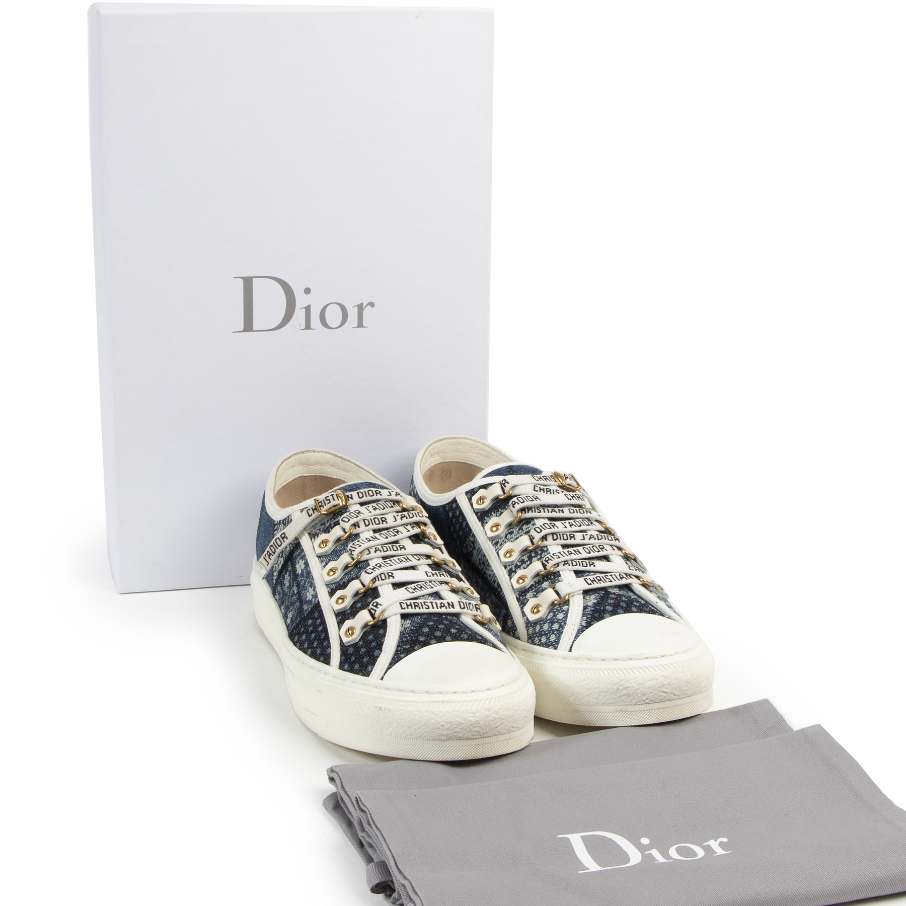 Dior Walk 'n Dior Denim Patchwork Sneakers