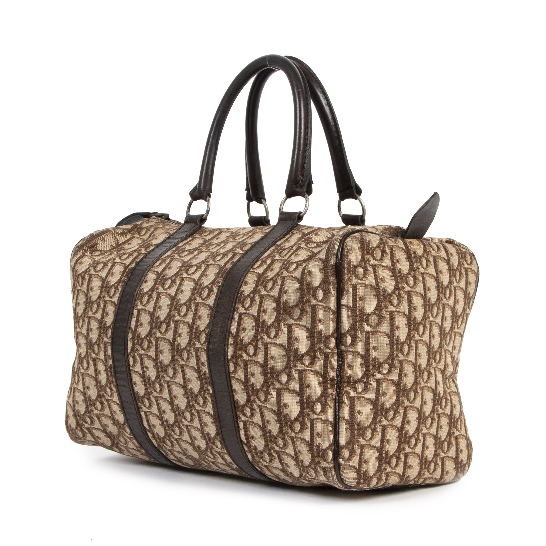 Dior Brown Monogram Canvas Boston Bag kopen en verkopen