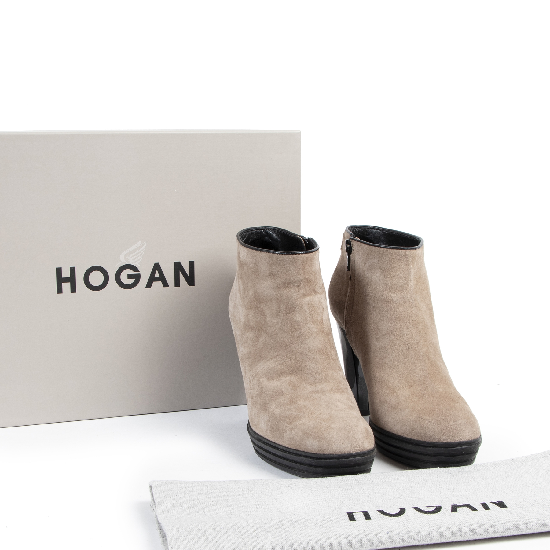 Are you looking for an authentic pair of Hogan Taupe Ankle Boots