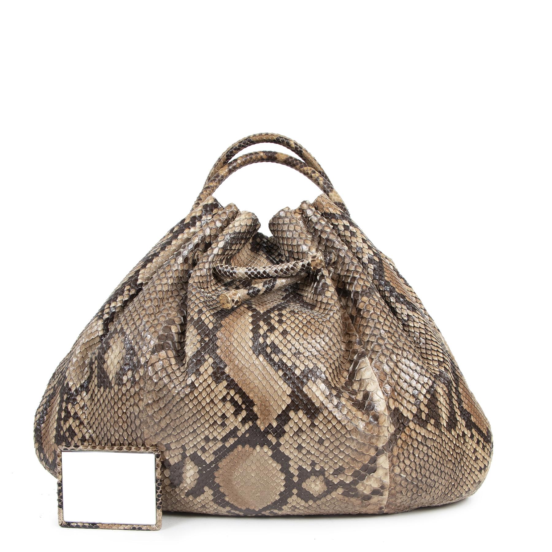 pour le meilleur prix Bottega Veneta Large Python Hobo Bag