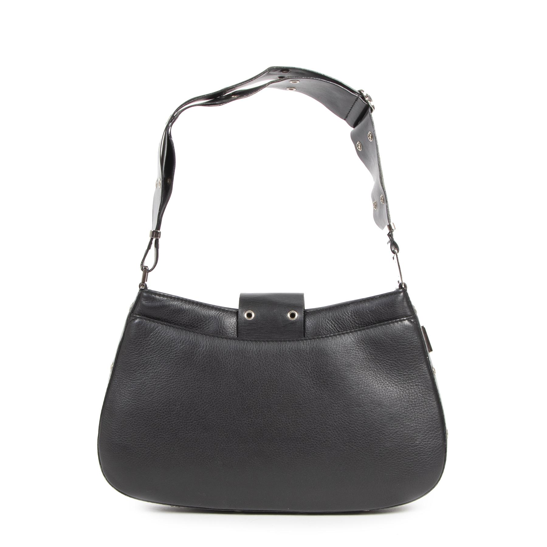 Authentieke Tweedehands Dior Black Street Chic Bag juiste prijs veilig online shoppen luxe merken webshop winkelen Antwerpen België mode fashion