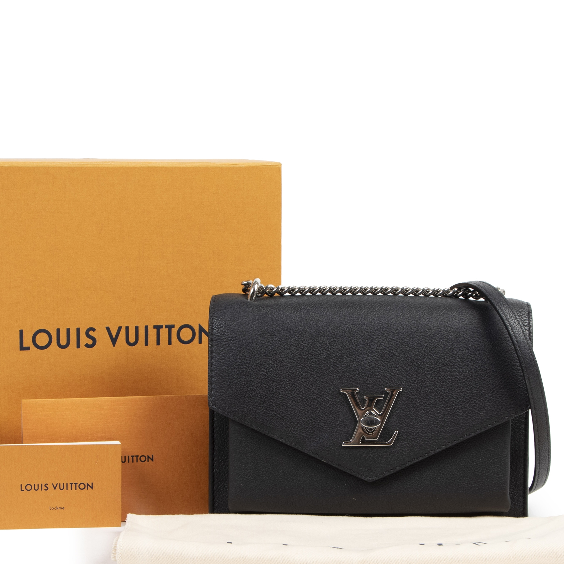 acheter en ligne Louis Vuitton Black Mylockme BB Crossbody Bag