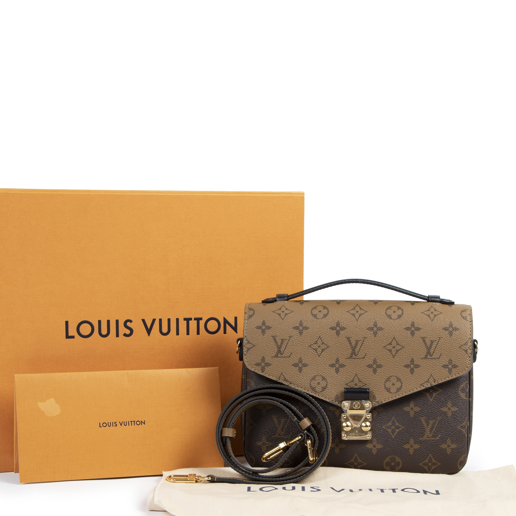 Authentic secondhand Louis Vuitton Monogram Reverse Canvas Pochette Metis designer bags fashion luxury vintage webshop safe secure online shopping