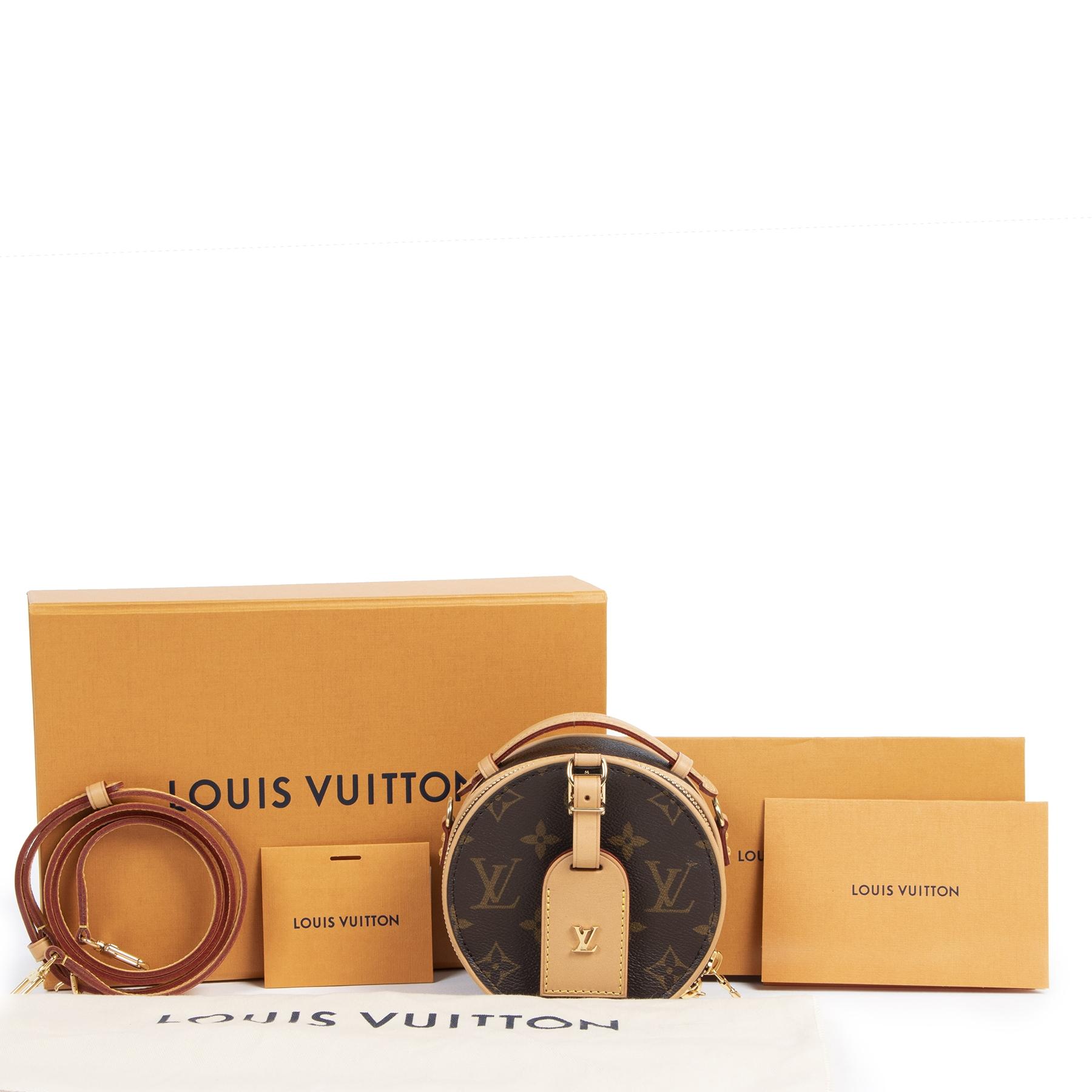 Authentieke Tweedehands Louis Vuitton Limited Monogram Mini Boîte Chapeau Bag juiste prijs veilig online shoppen luxe merken webshop winkelen Antwerpen België mode fashion