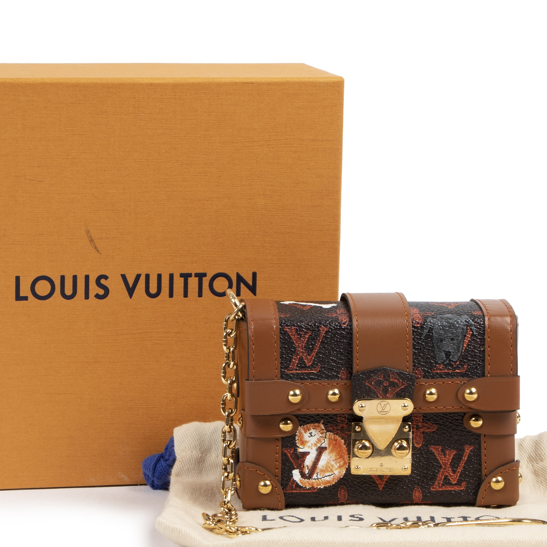 koop online tegen de beste prijs Very Limited Louis Vuitton Grace Coddington Miniature Essential Trunk Petite-Malle