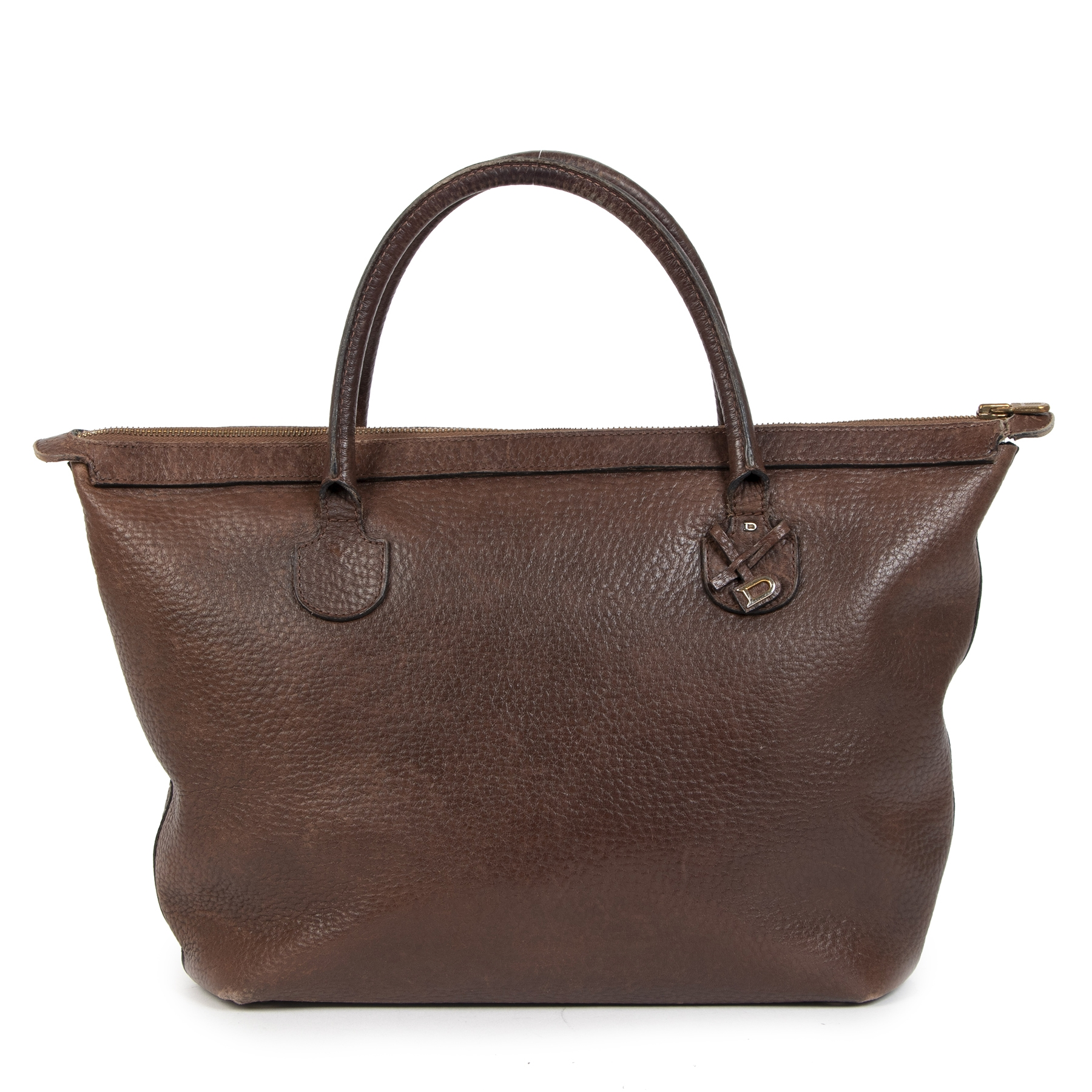 Delvaux Brown Top Handle Bag