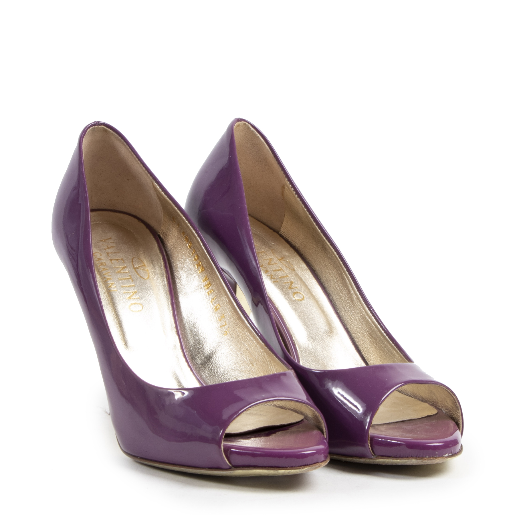 Authentique seconde-main vintage Valentino Purple Patent Pumps - Size 37,5 achète en ligne webshop LabelLOV