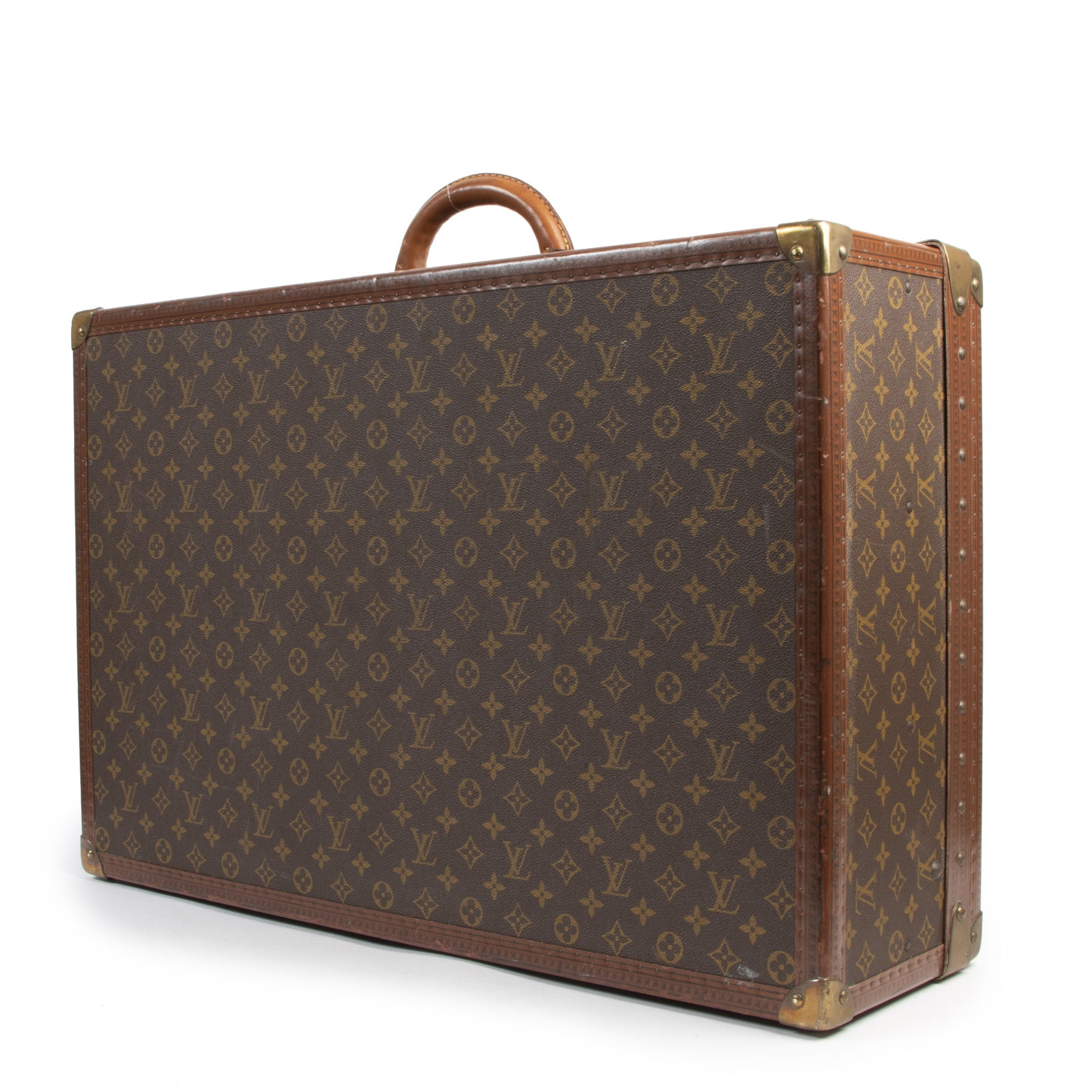 Authentic second-hand vintage Louis Vuitton Alzer 80 Suitcase buy online webshop LabelLOV