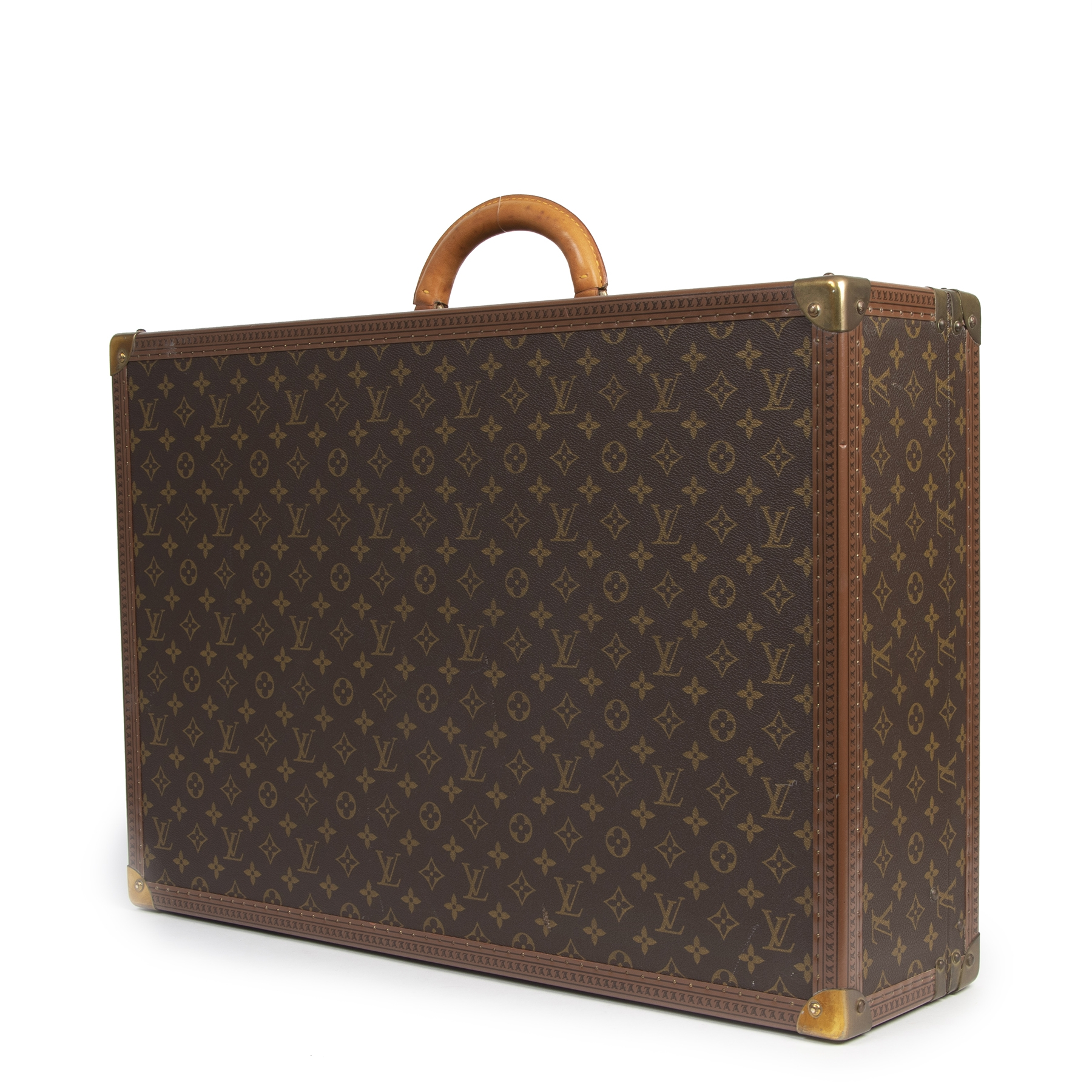 Authentieke tweedehands vintage Louis Vuitton Bisten 65 Monogram Travel Trunk koop online webshop LabelLOV