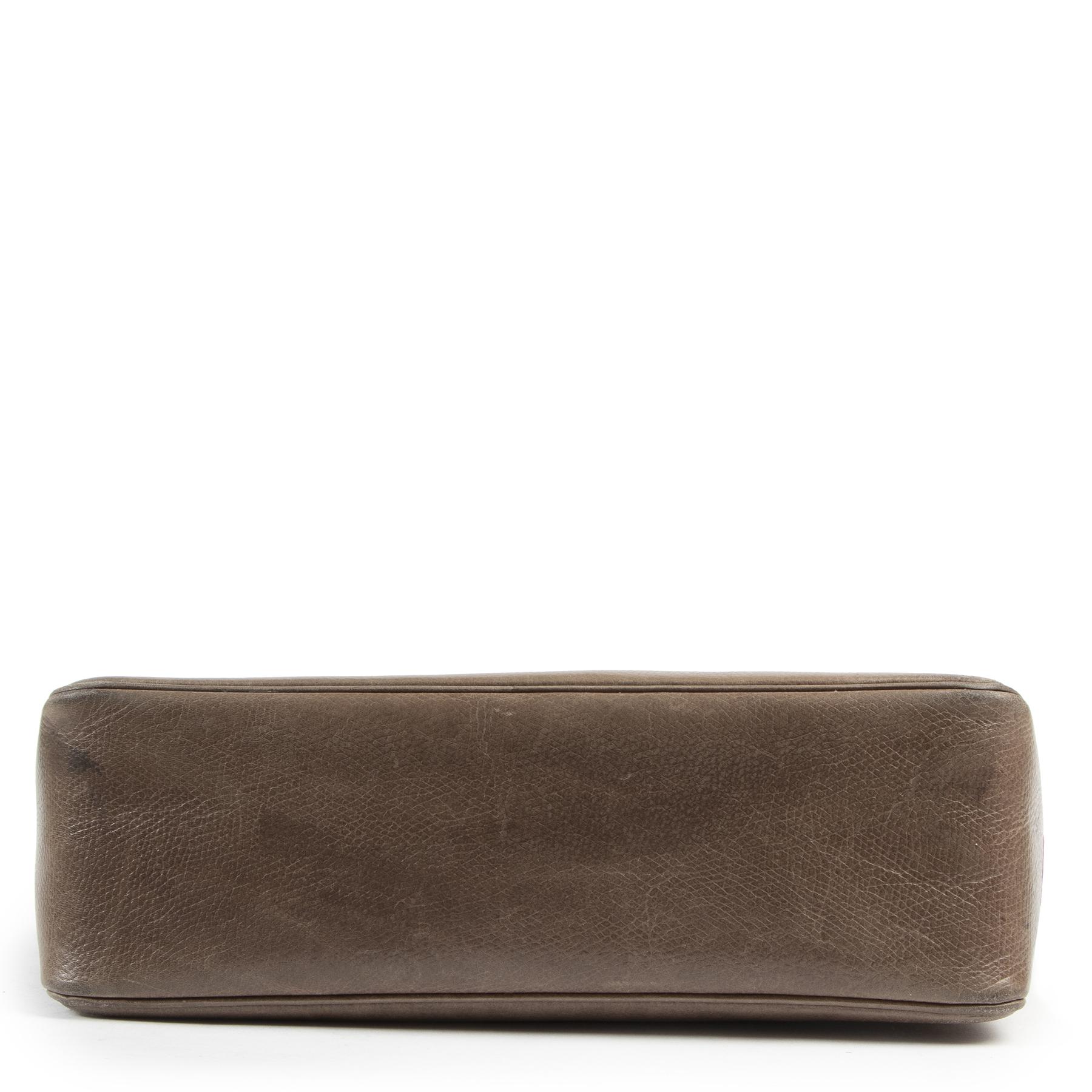 acheter en ligne Delvaux Taupe Paserelle Shoulder Bag