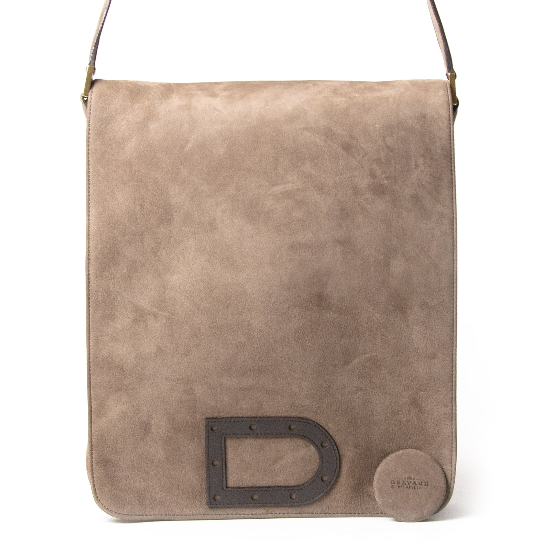Delvaux Taupe Louise Baudrier