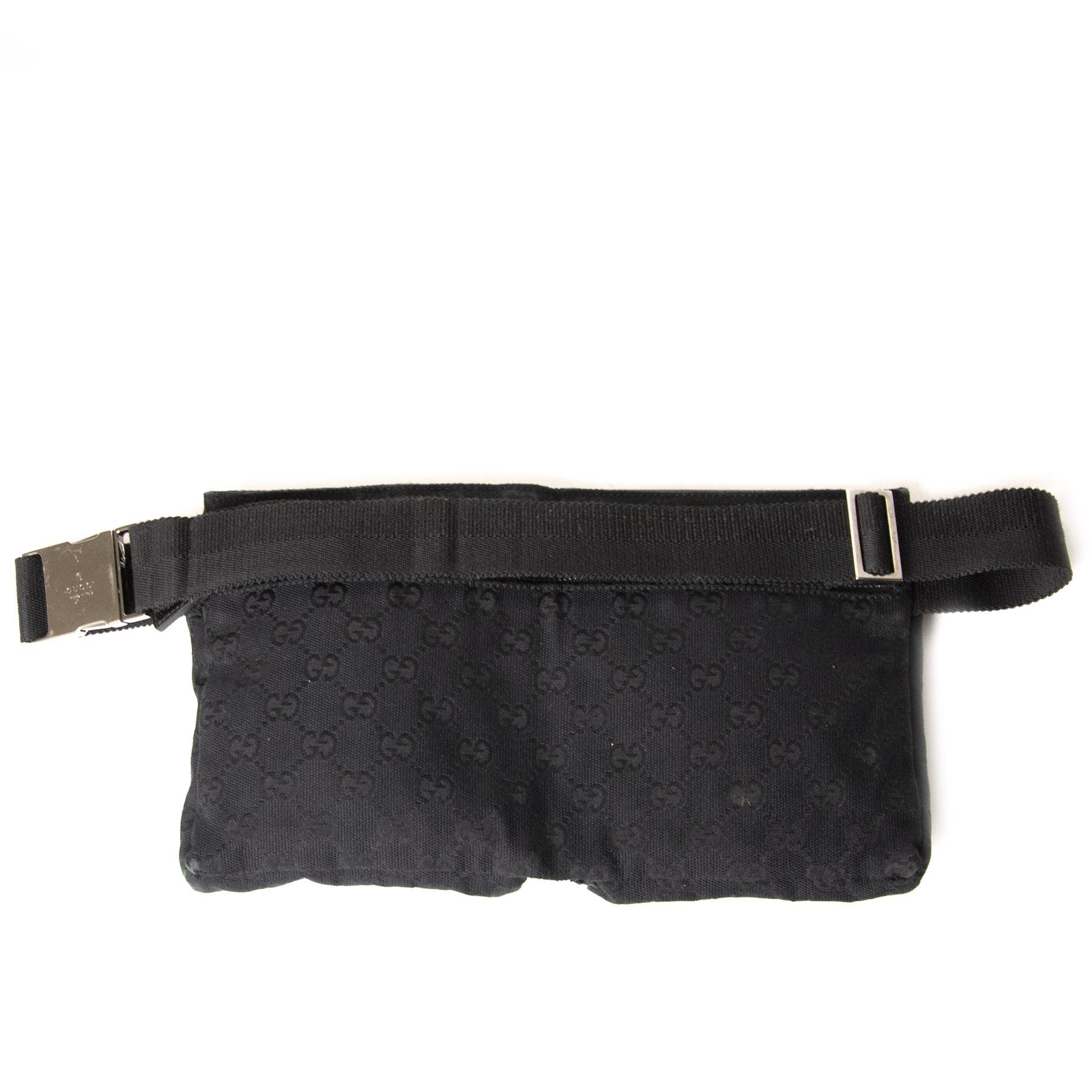 Gucci Black GG Monogram Canvas Belt Bag