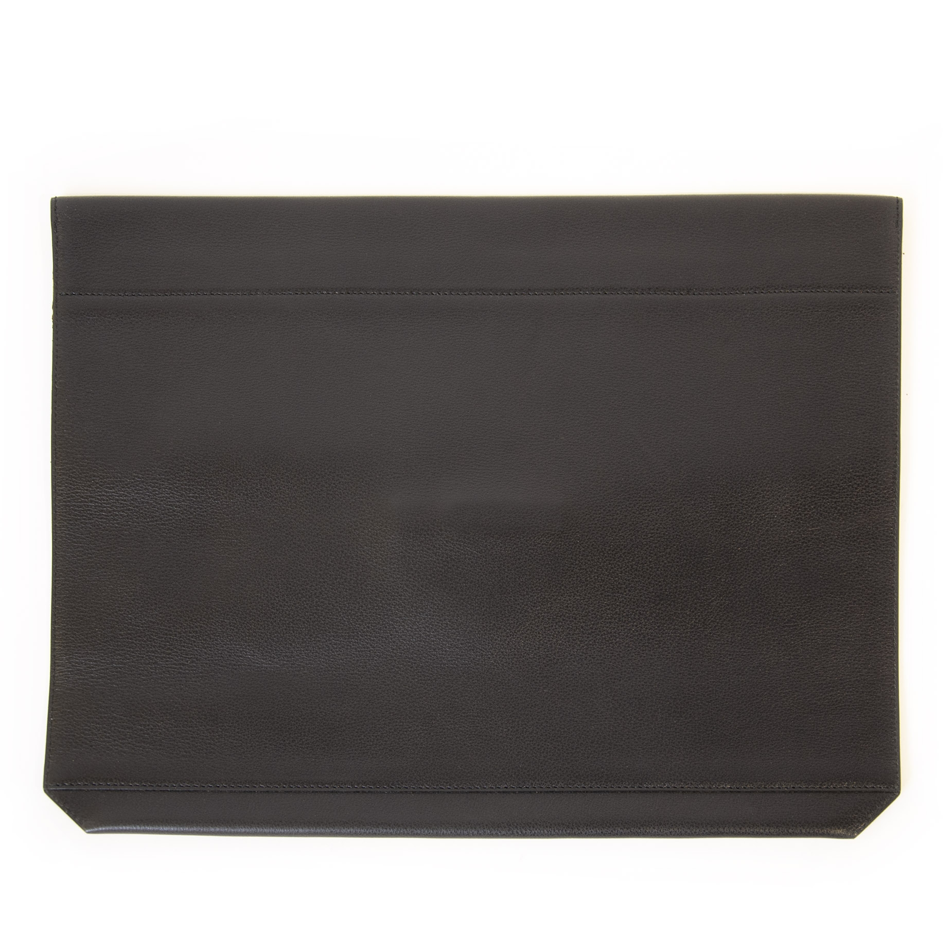 Buy and sell your authentic Delvaux Black Leather A4 Presse Pouch