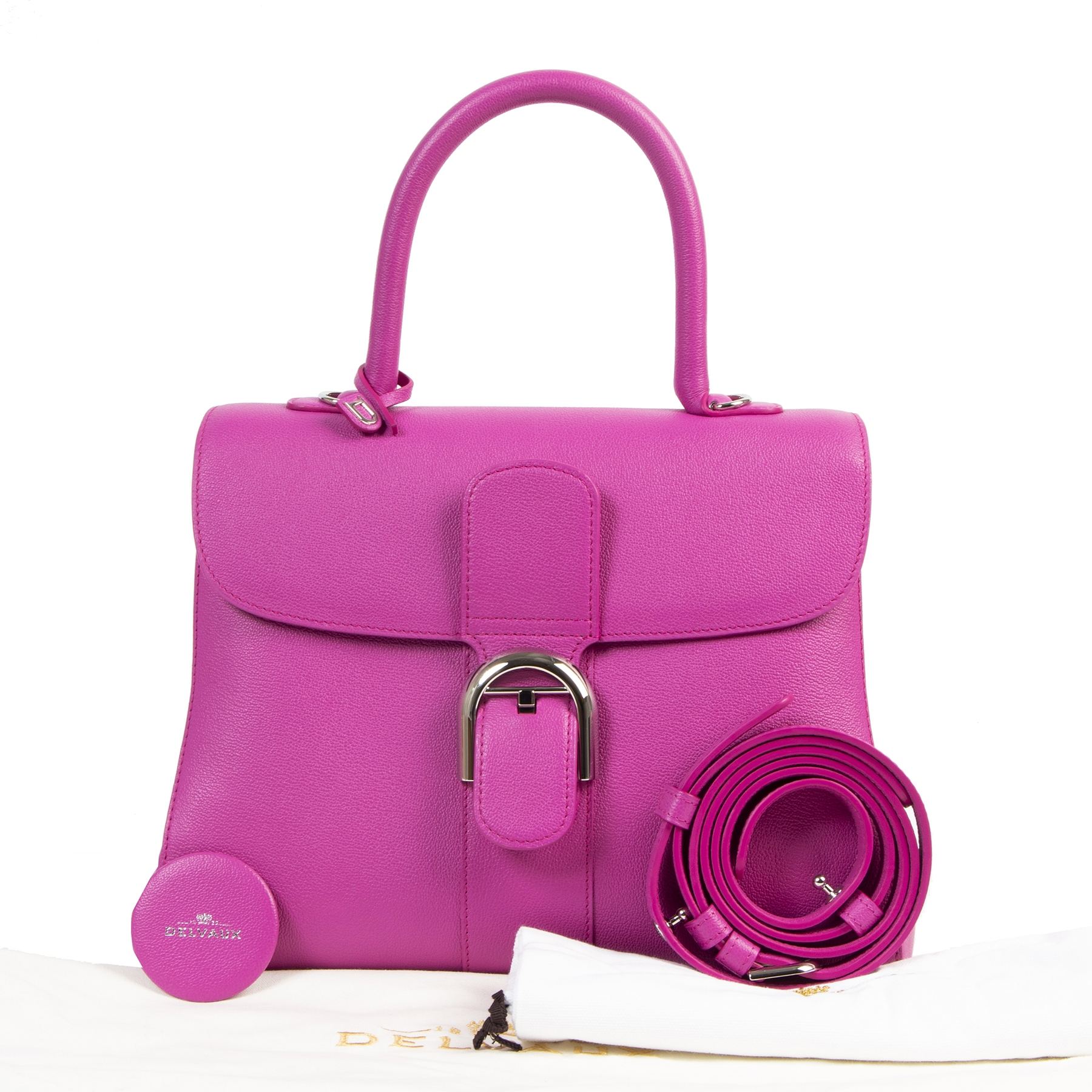 Delvaux Brillant MM Fuchsia Bag