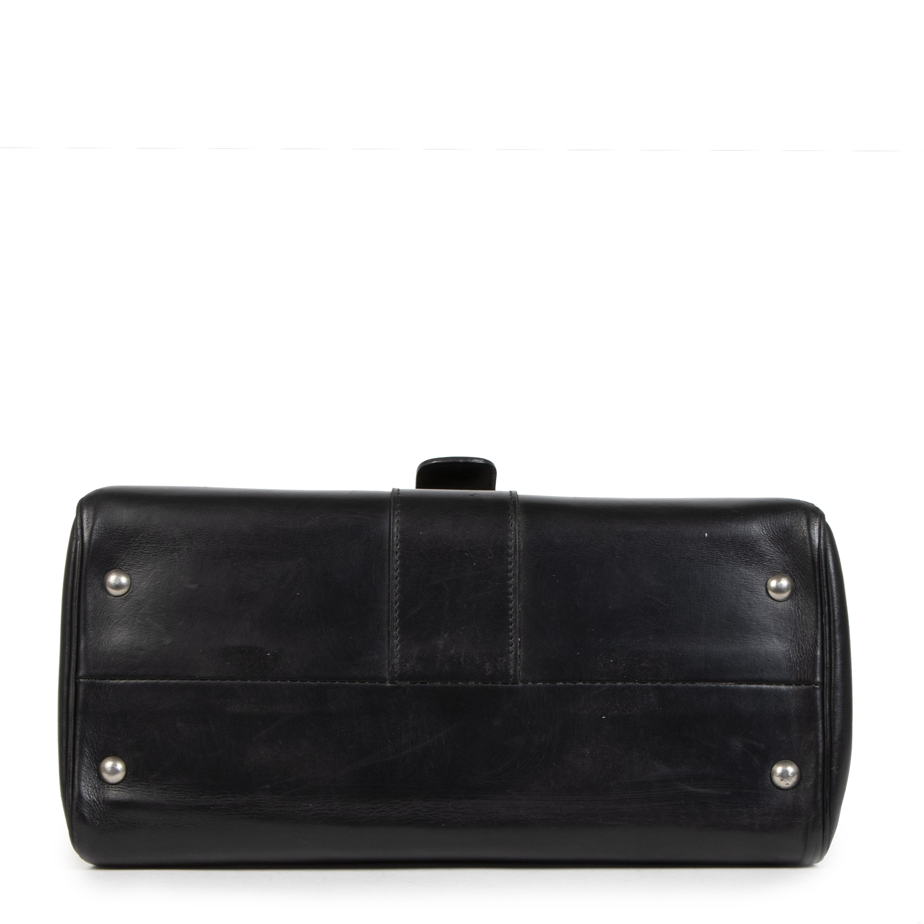 shop Delvaux Black Boxcalf Brillant MM