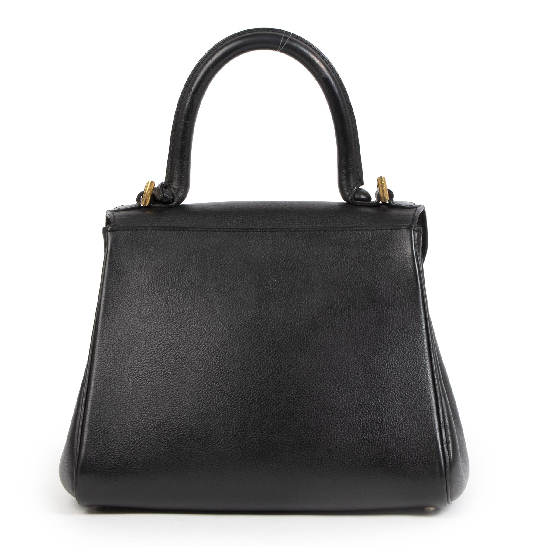 Authentieke Tweedehands Delvaux Brillant Black PM GHW juiste prijs veilig online shoppen luxe merken webshop winkelen Antwerpen België mode fashion