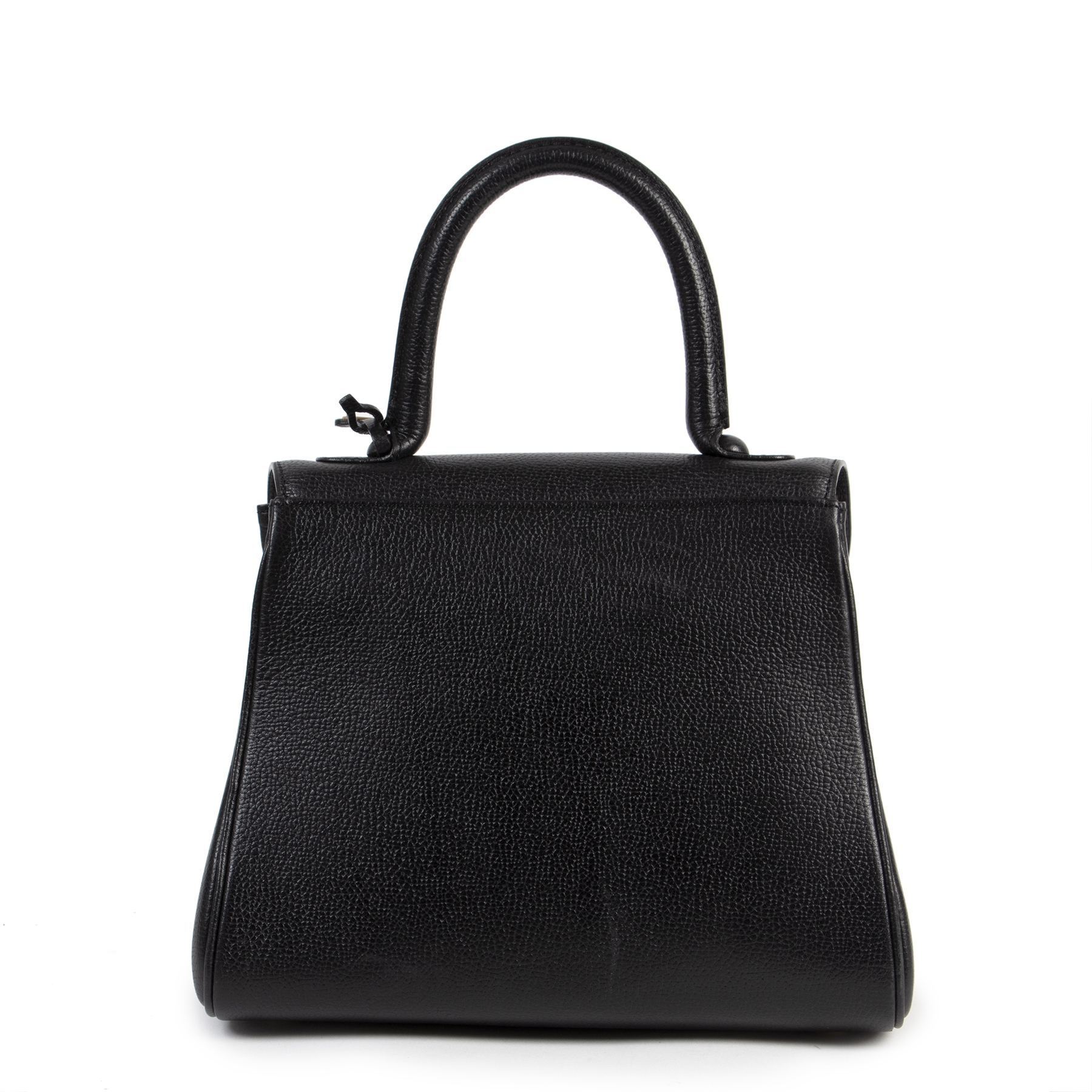 Authentieke tweedehands vintage Delvaux Black Brillant PM Bag koop online webshop LabelLOV