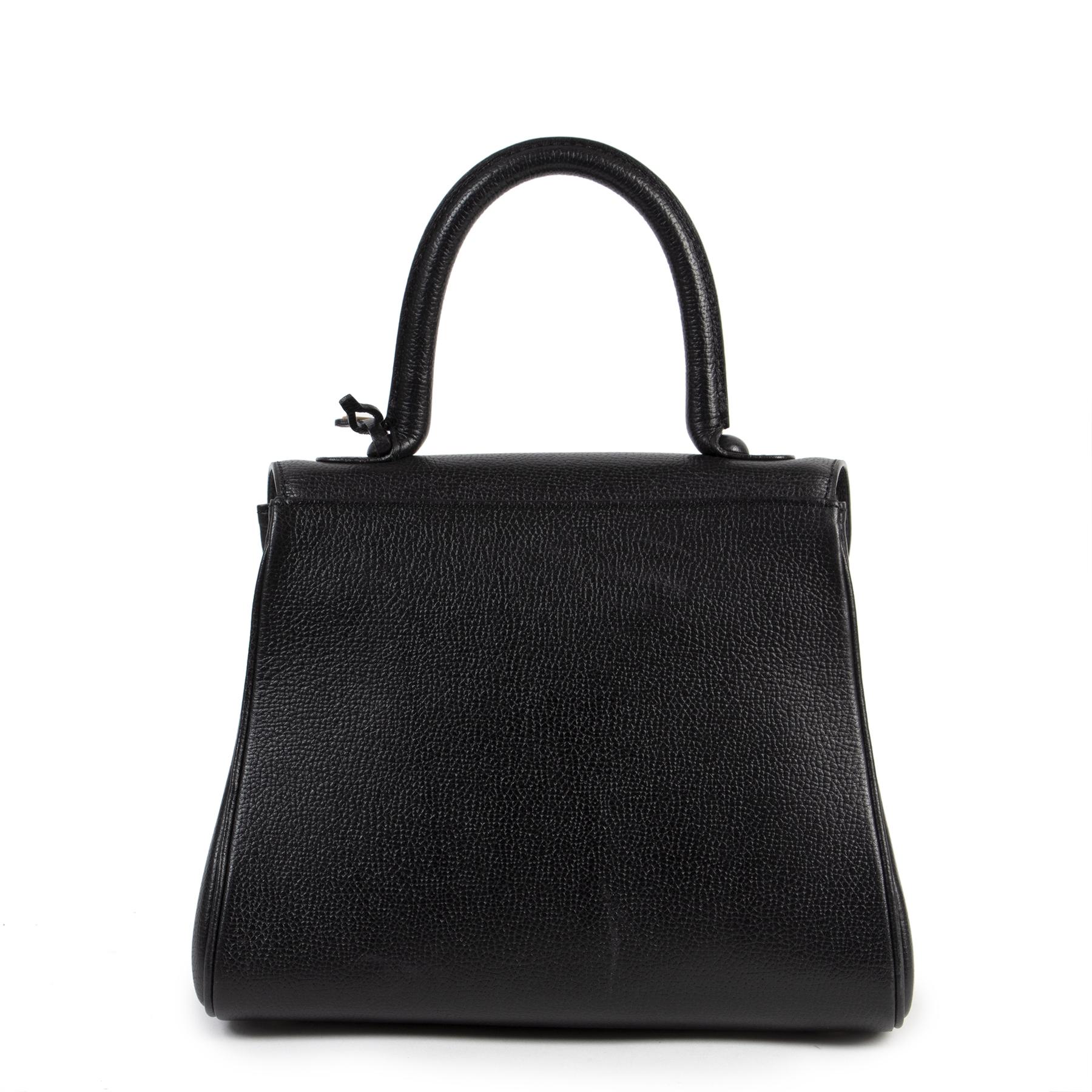 Authentieke tweedehands vintage Delvaux Black Brillant PM Bag koop online webshop LabelLOV