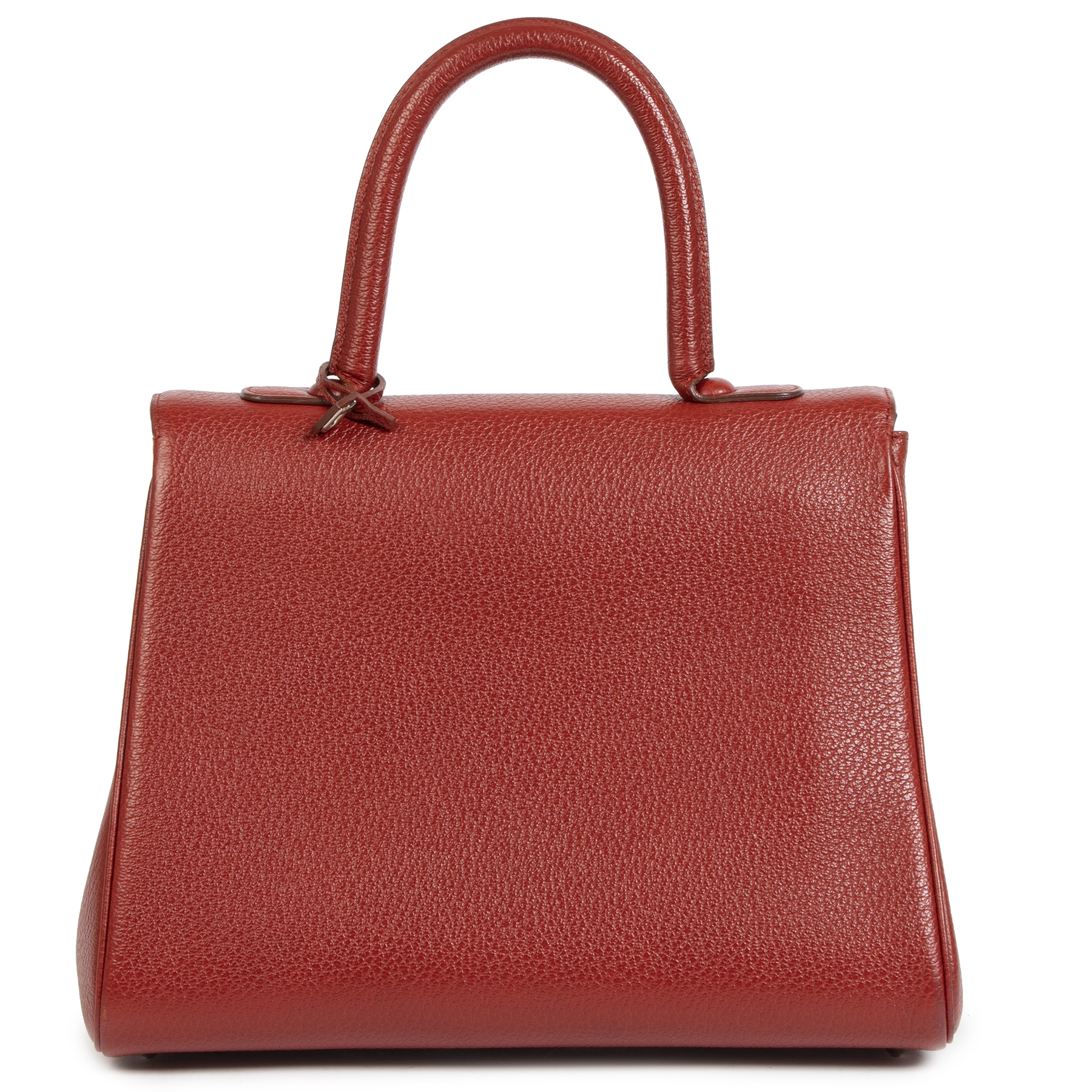 Delvaux Brillant MM red authentic secondhand at the right price online webshop LabelLOV luxury brand shop LabelLOV Antwerp Belgium