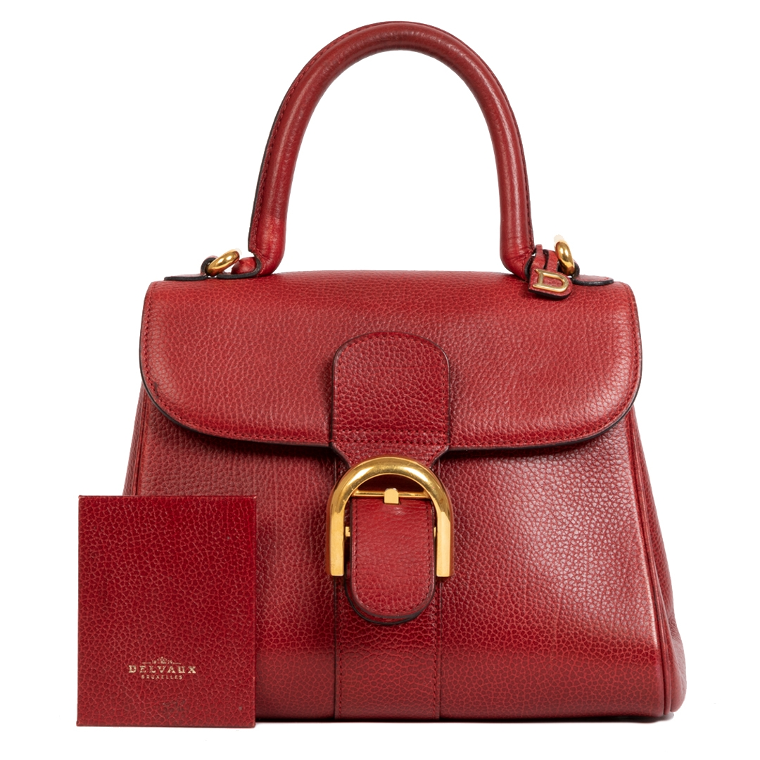 Delvaux Brillant PM Dark Red Bag