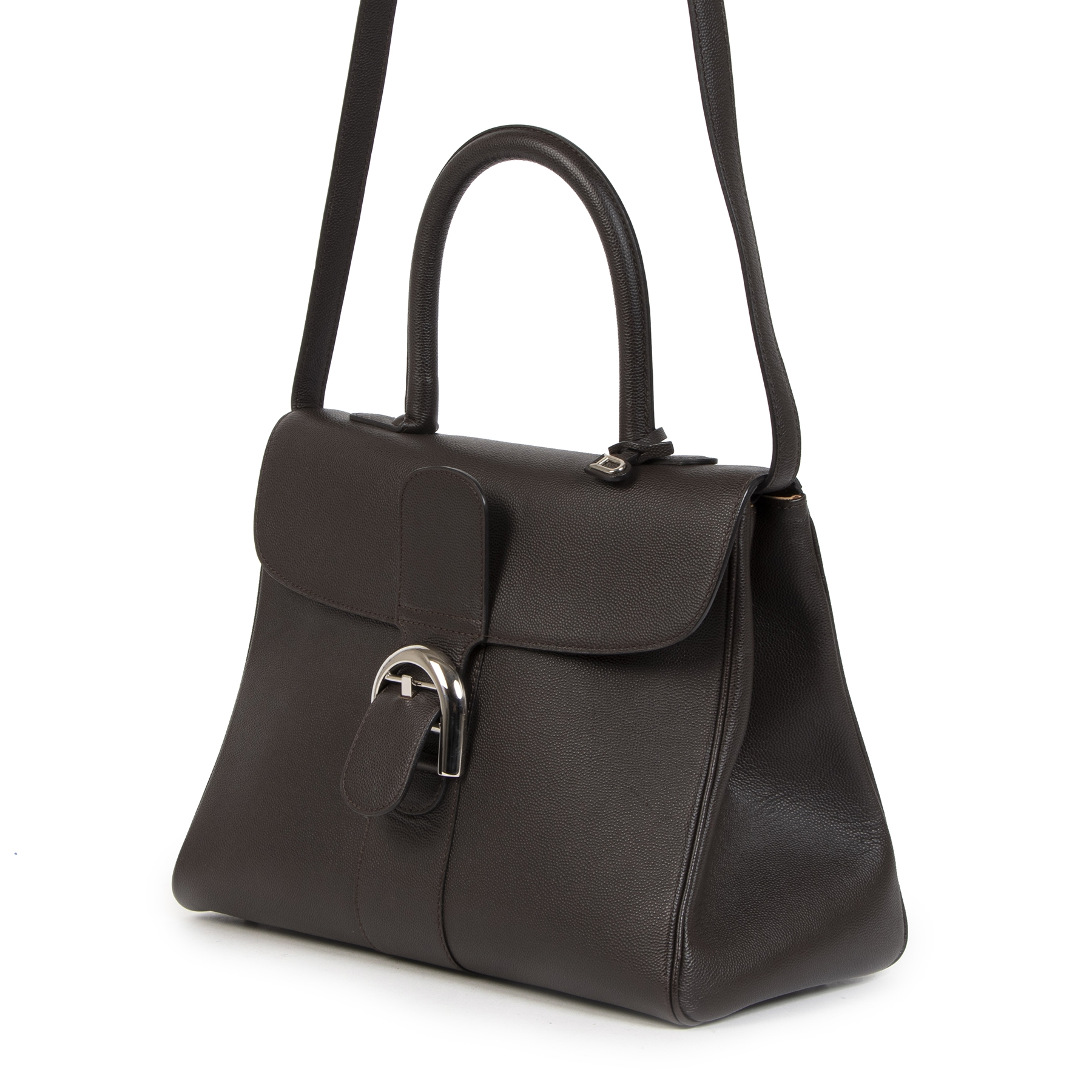 Buy authentic secondhand Delvaux Brillant Dark Grey MM  at the right price at LabelLOV vintage webshop. Safe and secure online shopping. Koop authentieke tweedehands Delvaux Brillant Dark Grey MM  met de juiste prijs bij LabelLOV