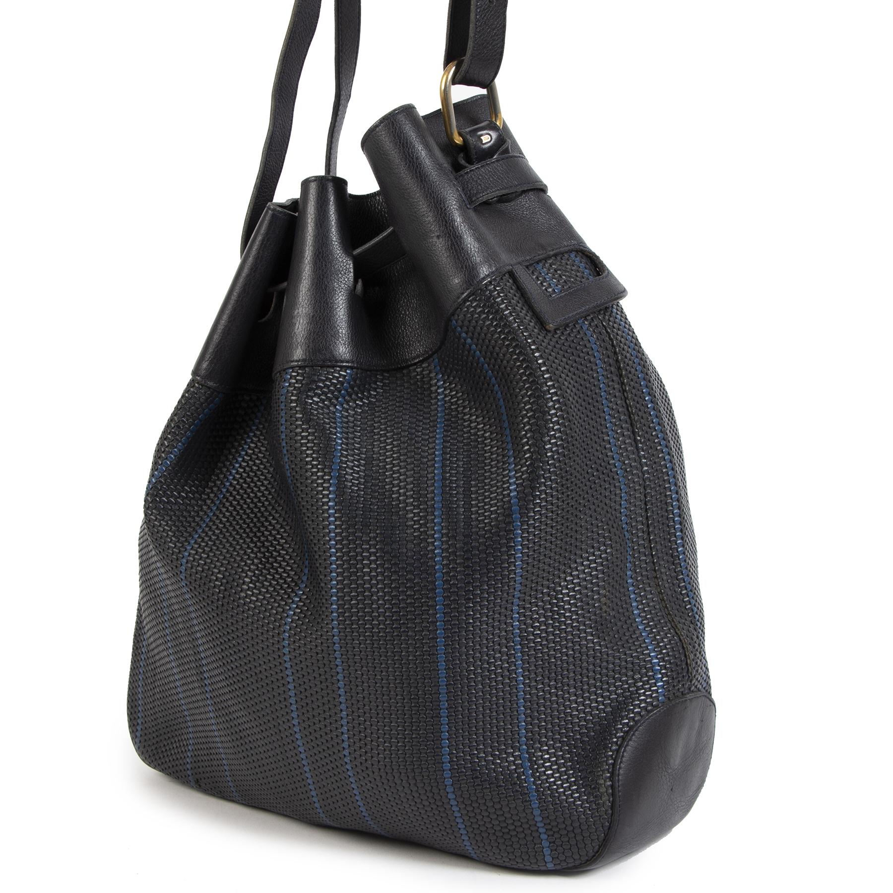 Delvaux Toile De Cuir Bucket Bag
