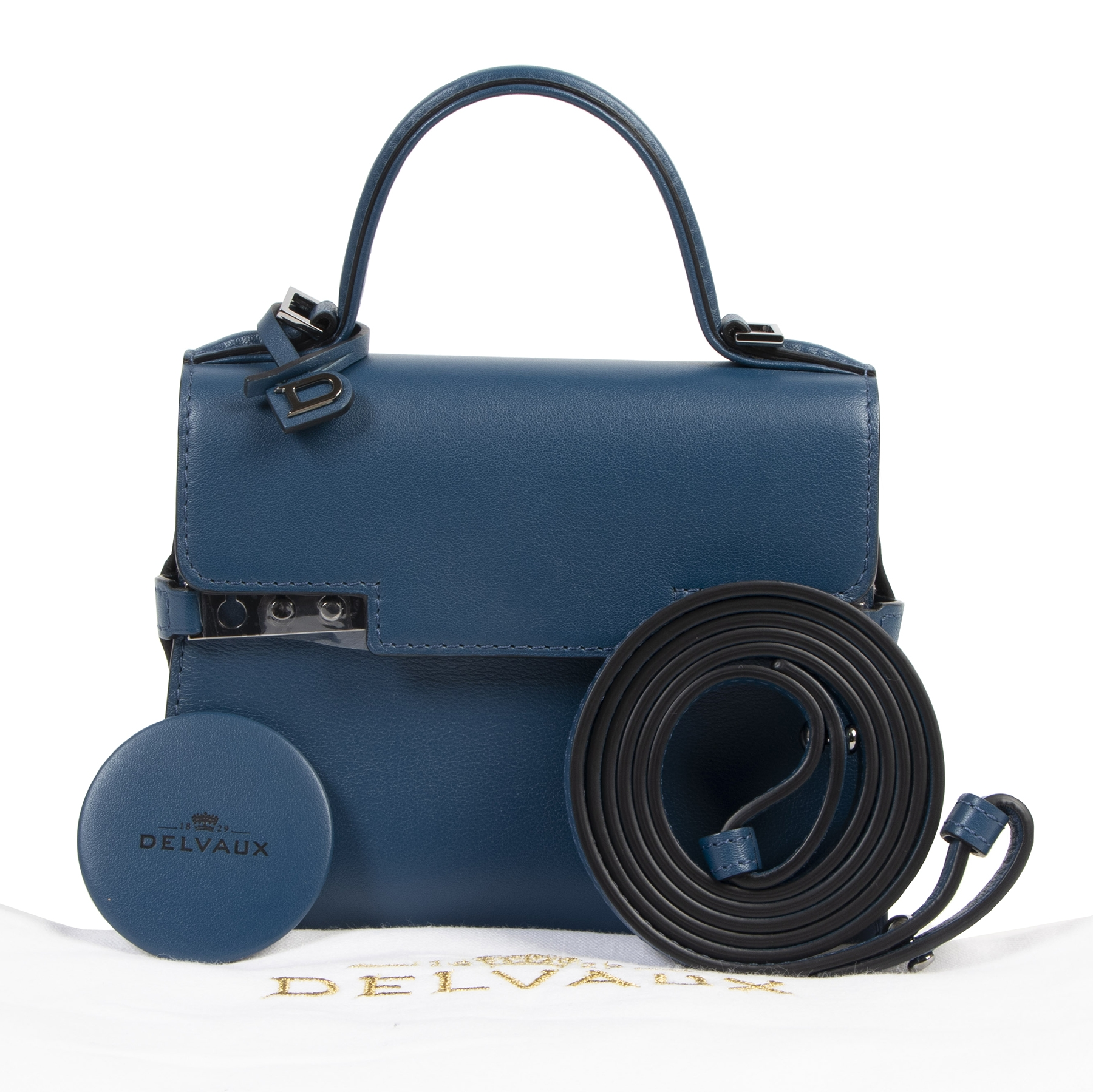 skip the waiting list shop safe online Never Used Delvaux Blue De Pluse Tempête Micro Calf Souple
