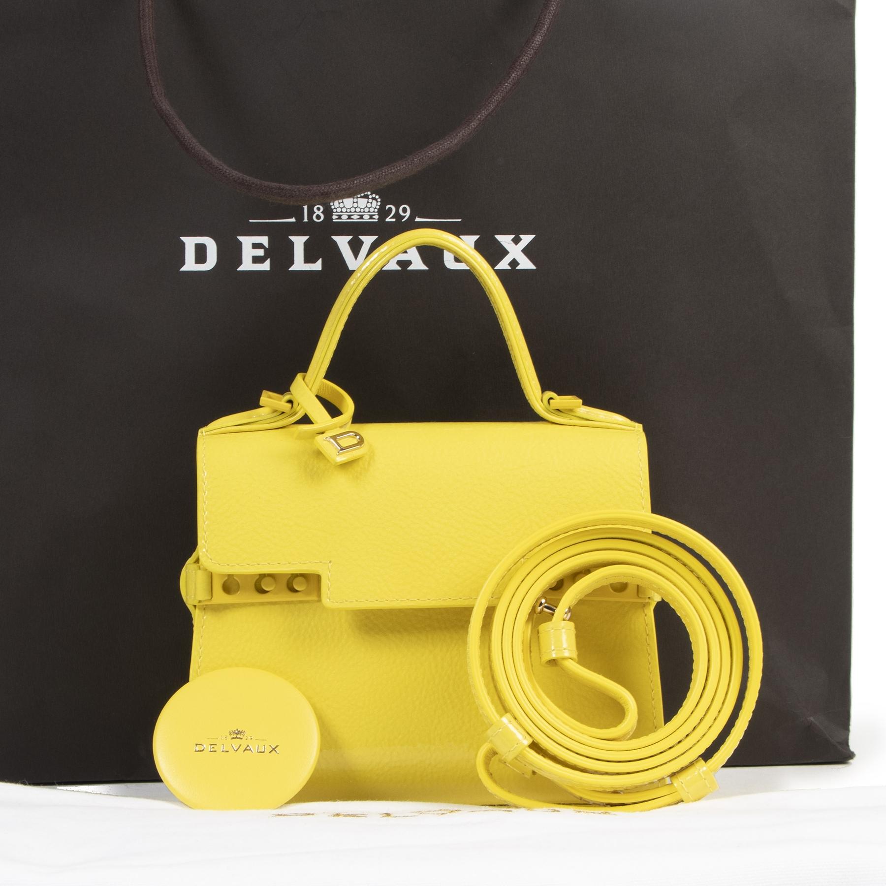 koop online Delvaux Tempête Lilac Micro Crossbody Bag