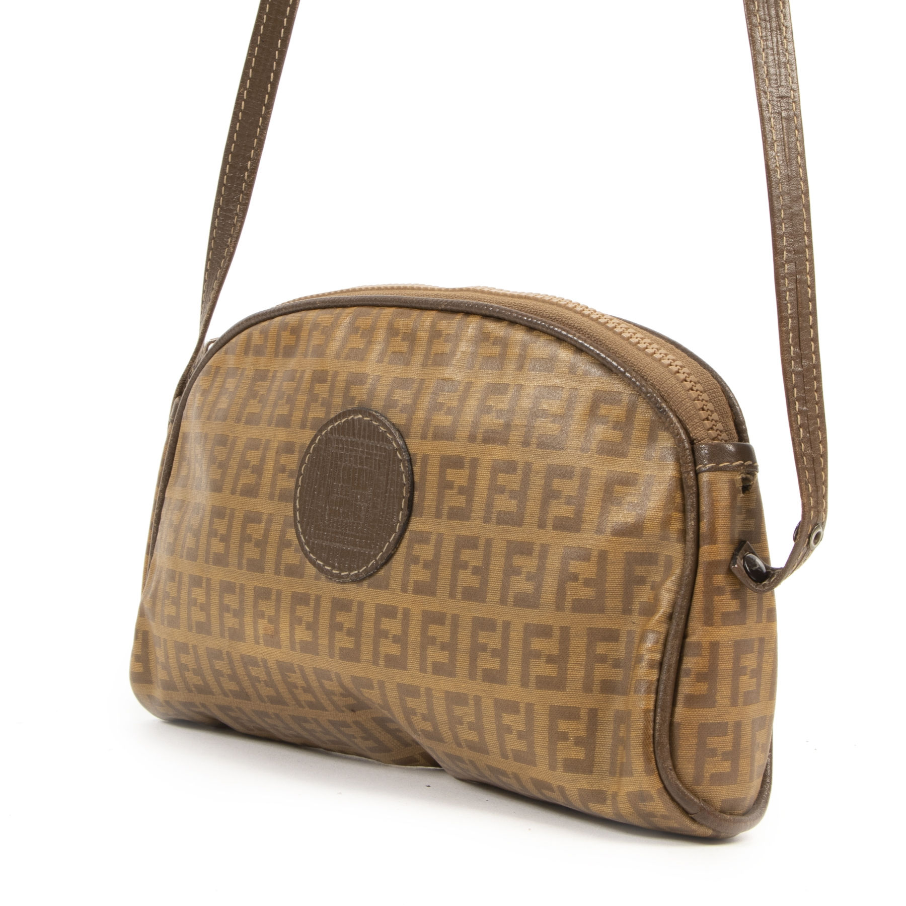 we buy and sell your authentic designer Fendi Vintage Logo Crossbody Bag for the best price
