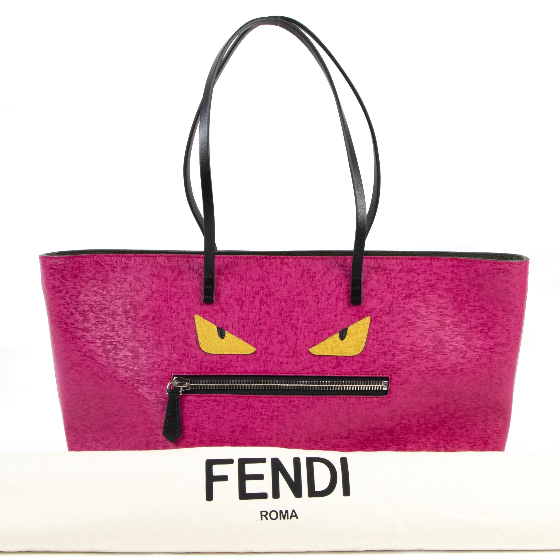 acheter en ligne seconde main Fendi Monster Eye Pink Tote