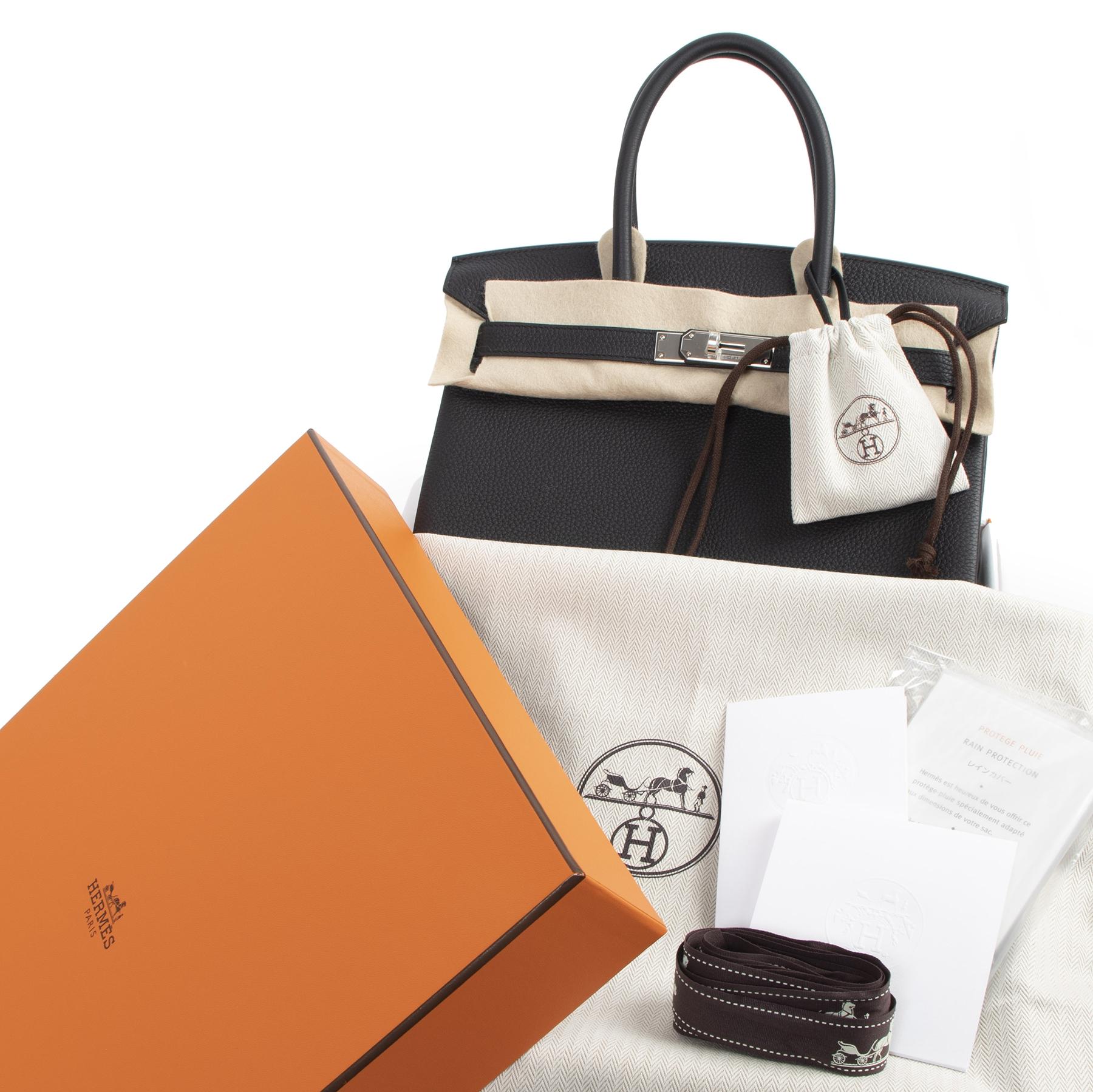 koop veilig online tweedehands Brand New Hermès Birkin 30 Black Togo PHW