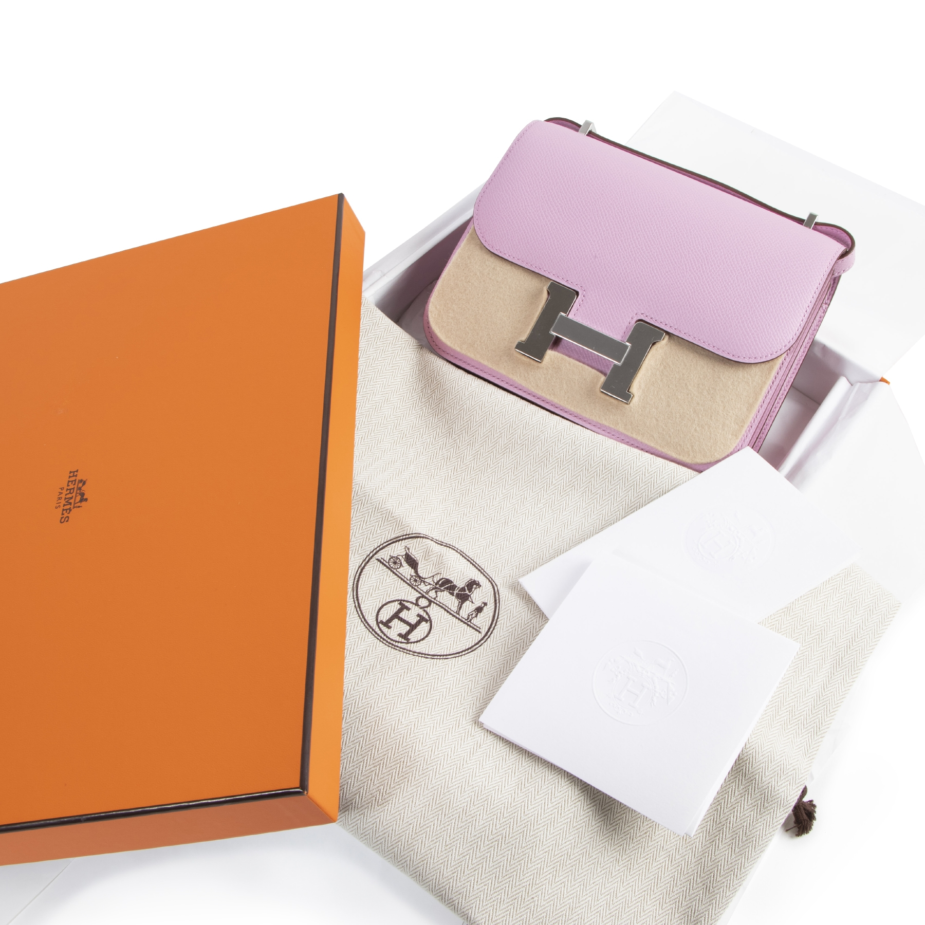 Hermès Constance 18 Mini Mauve Sylvestre for the best price