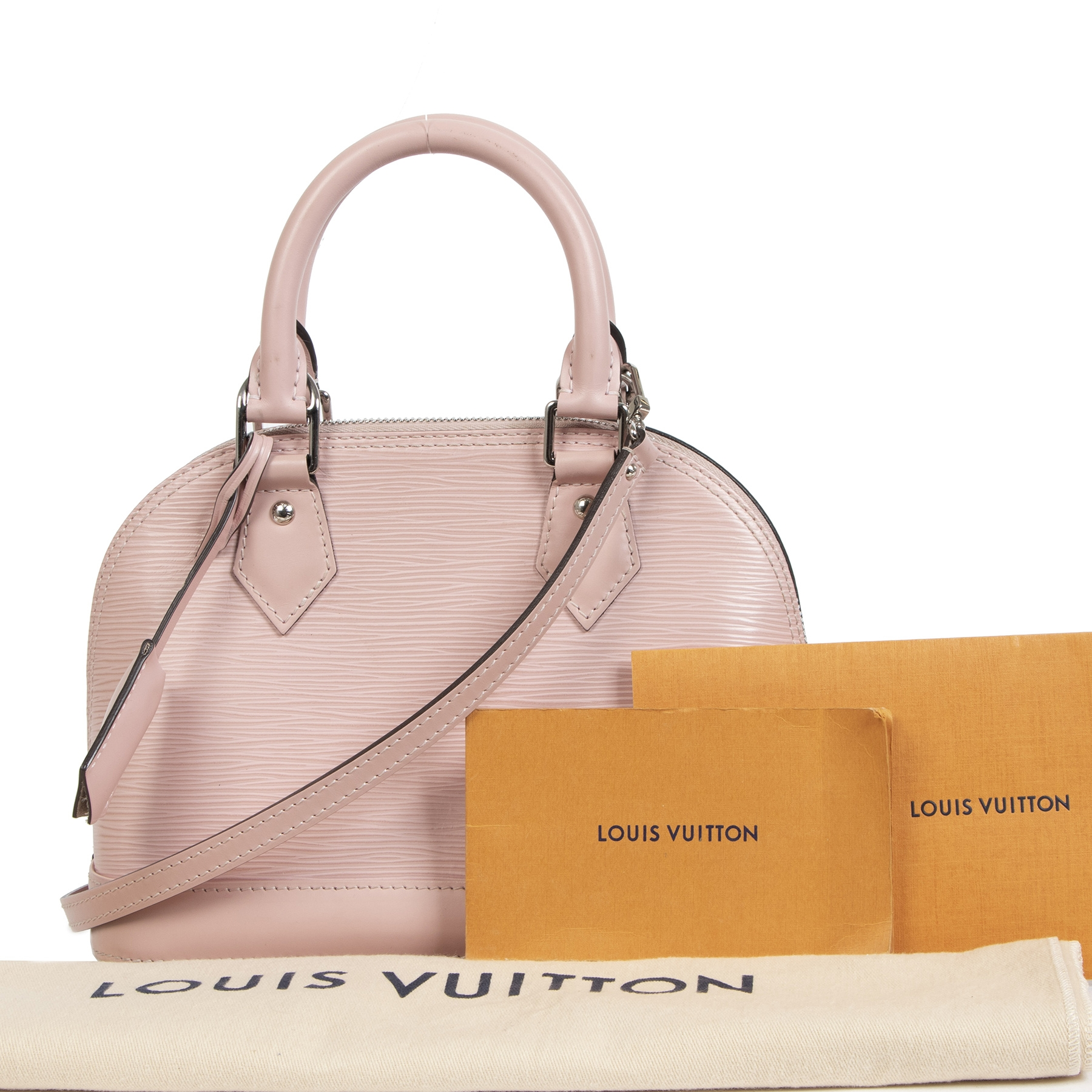 Louis Vuitton Alma BB Rose Ballerine Epi Leather
