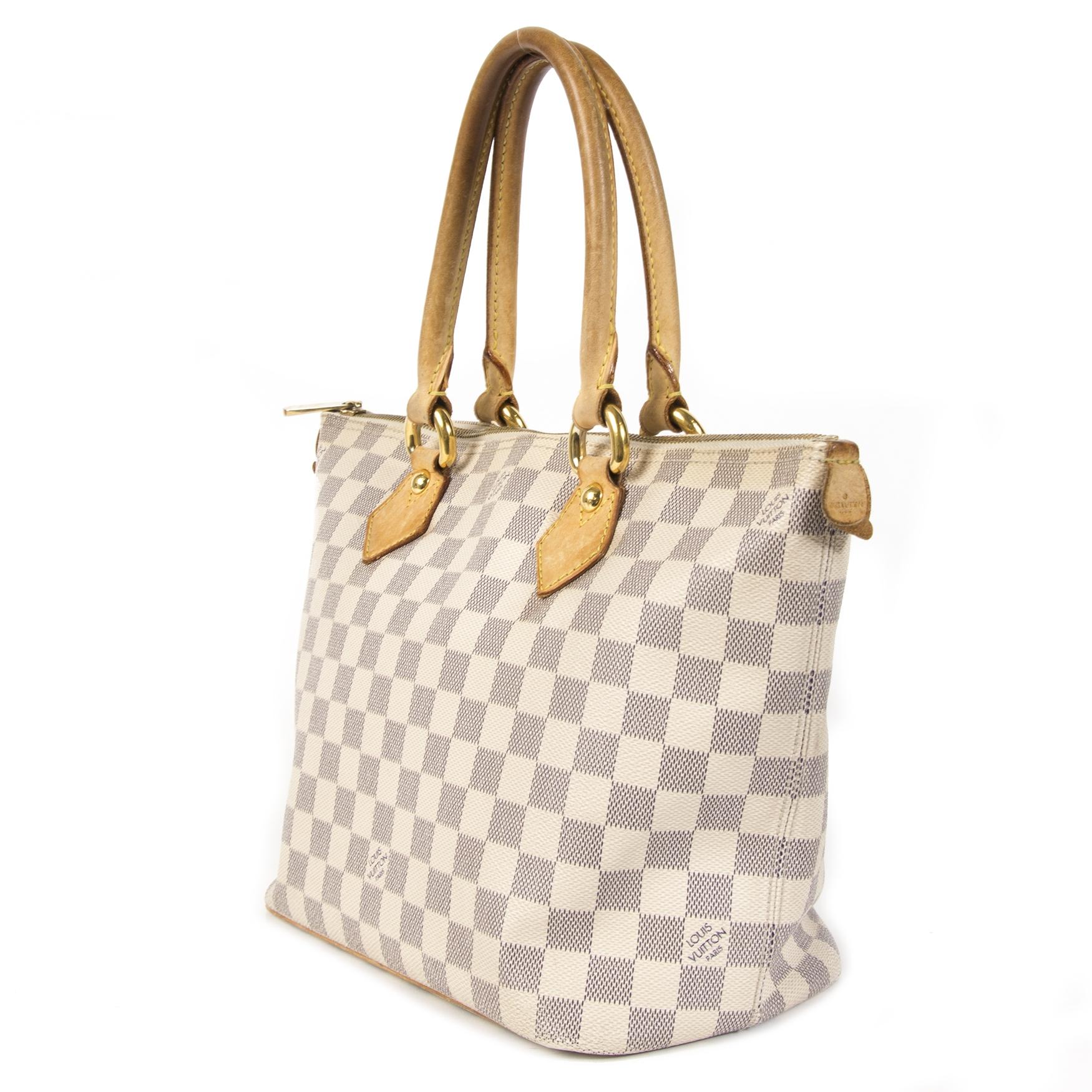 Koop en verkoop uw authentieke Louis Vuitton Damier Azur Saleya Bag