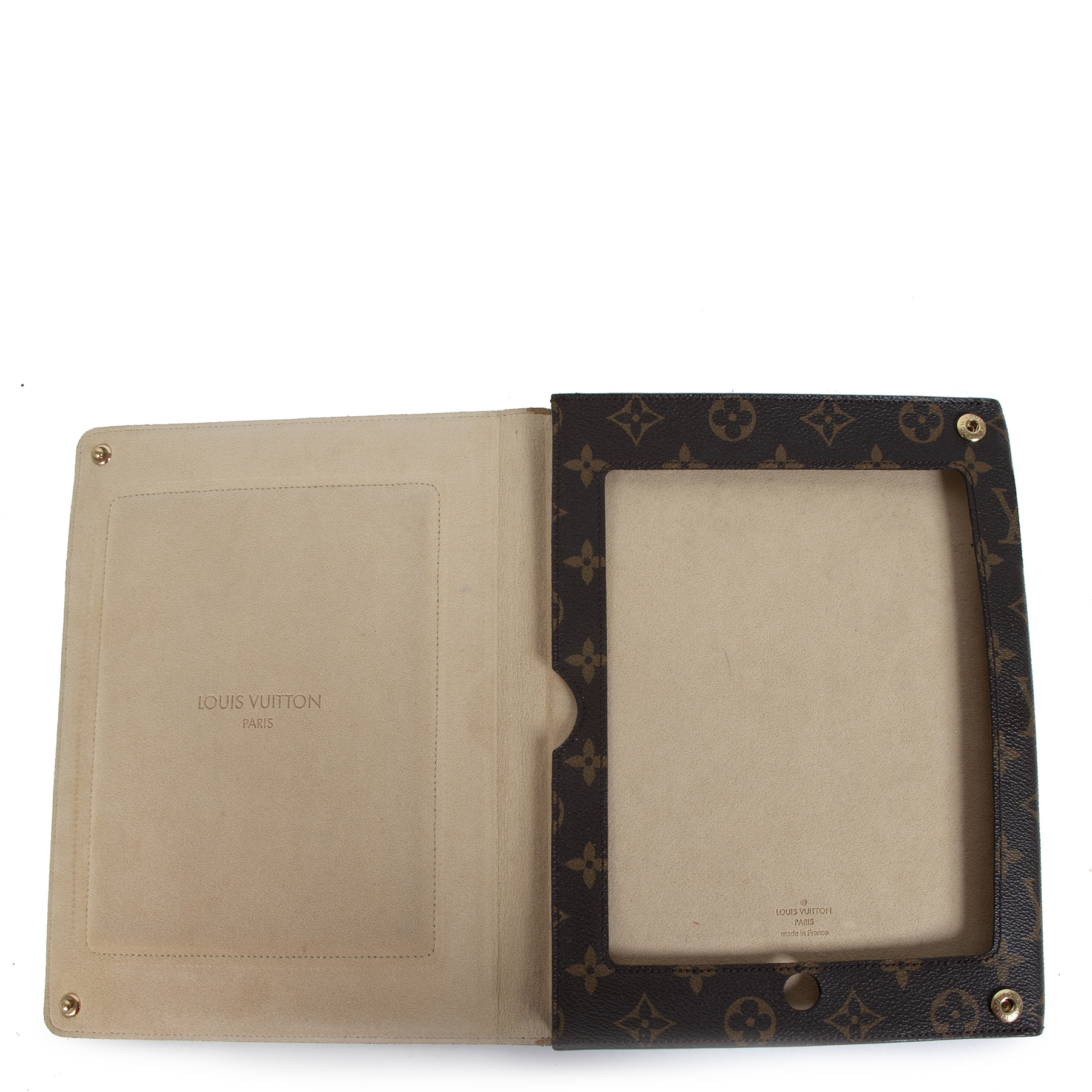 Authentic secondhand Louis Vuitton Monogram Leather Ipad 2 Case designer accessories designer ipad cases designer brands fashion luxury vintage webshop safe secure online shopping worldwide shipping delivery