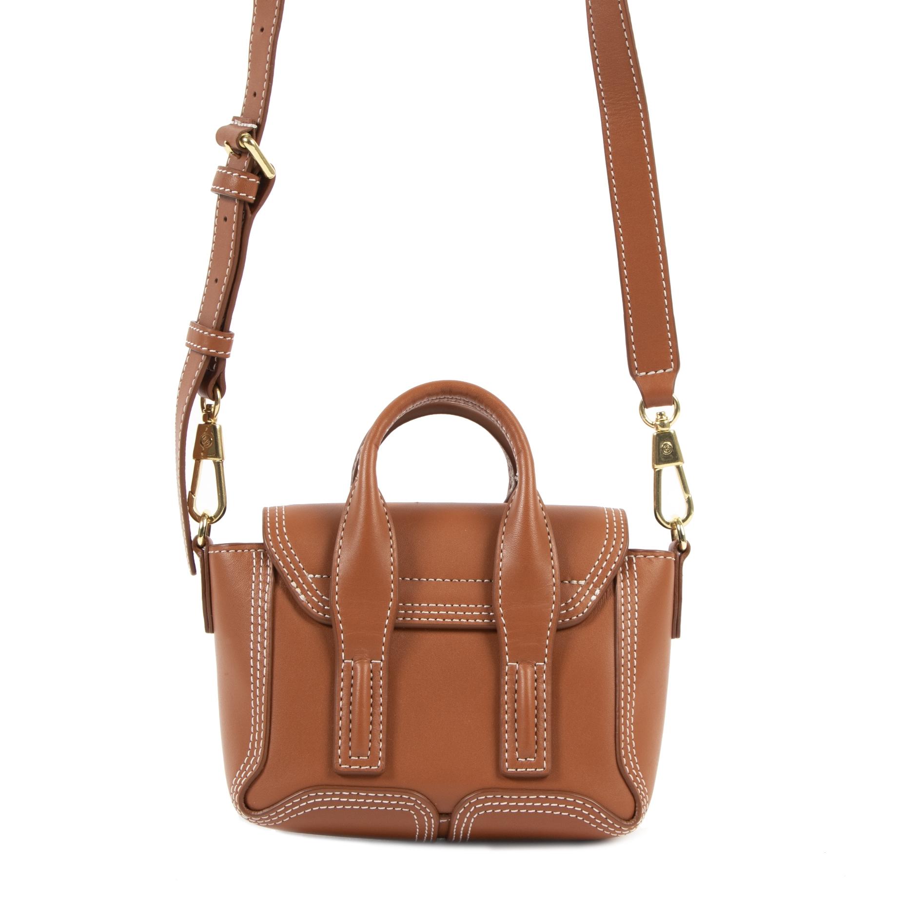 3.1 Phillip Lim Cognac Leather Mini Pashli