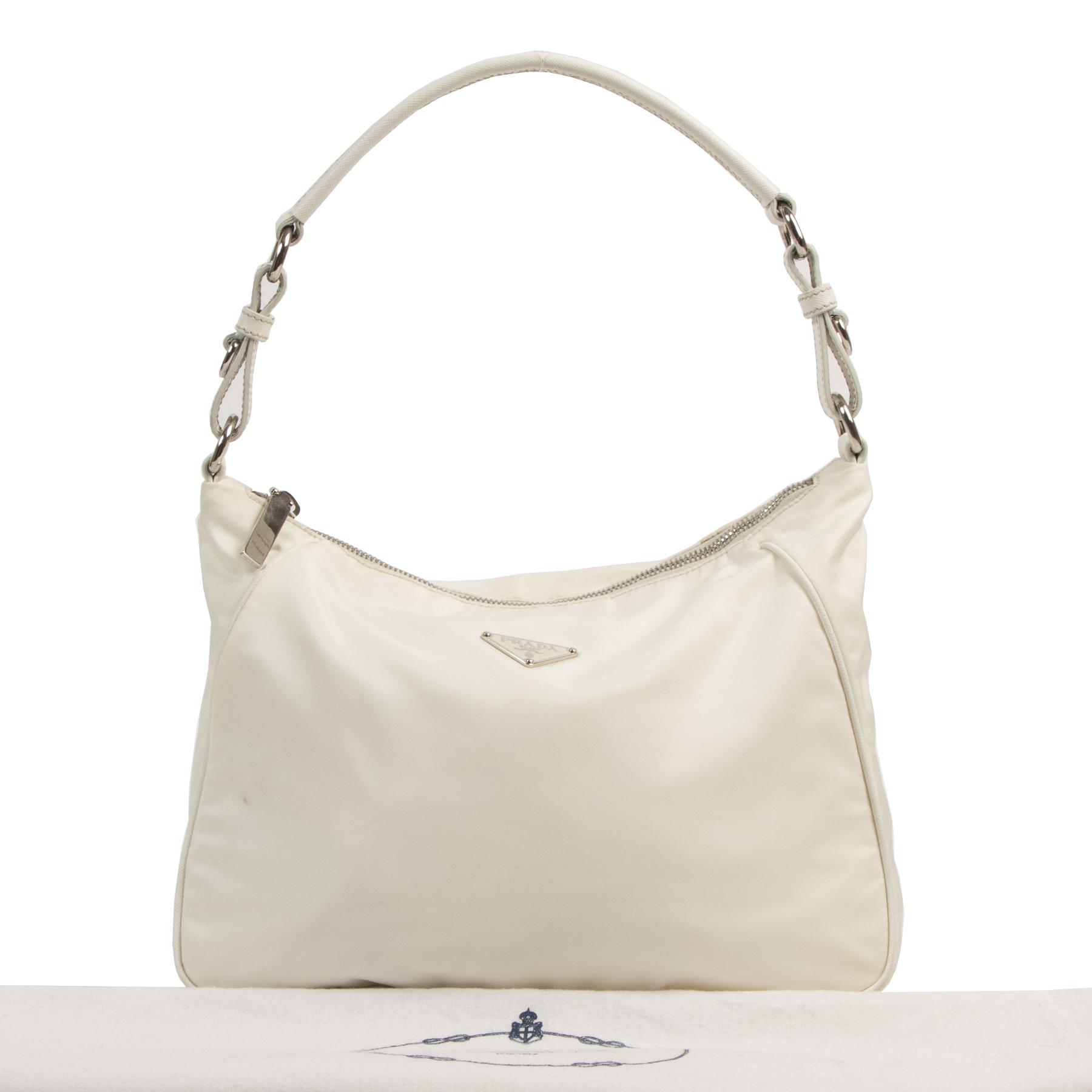 Prada White Nylon Bag