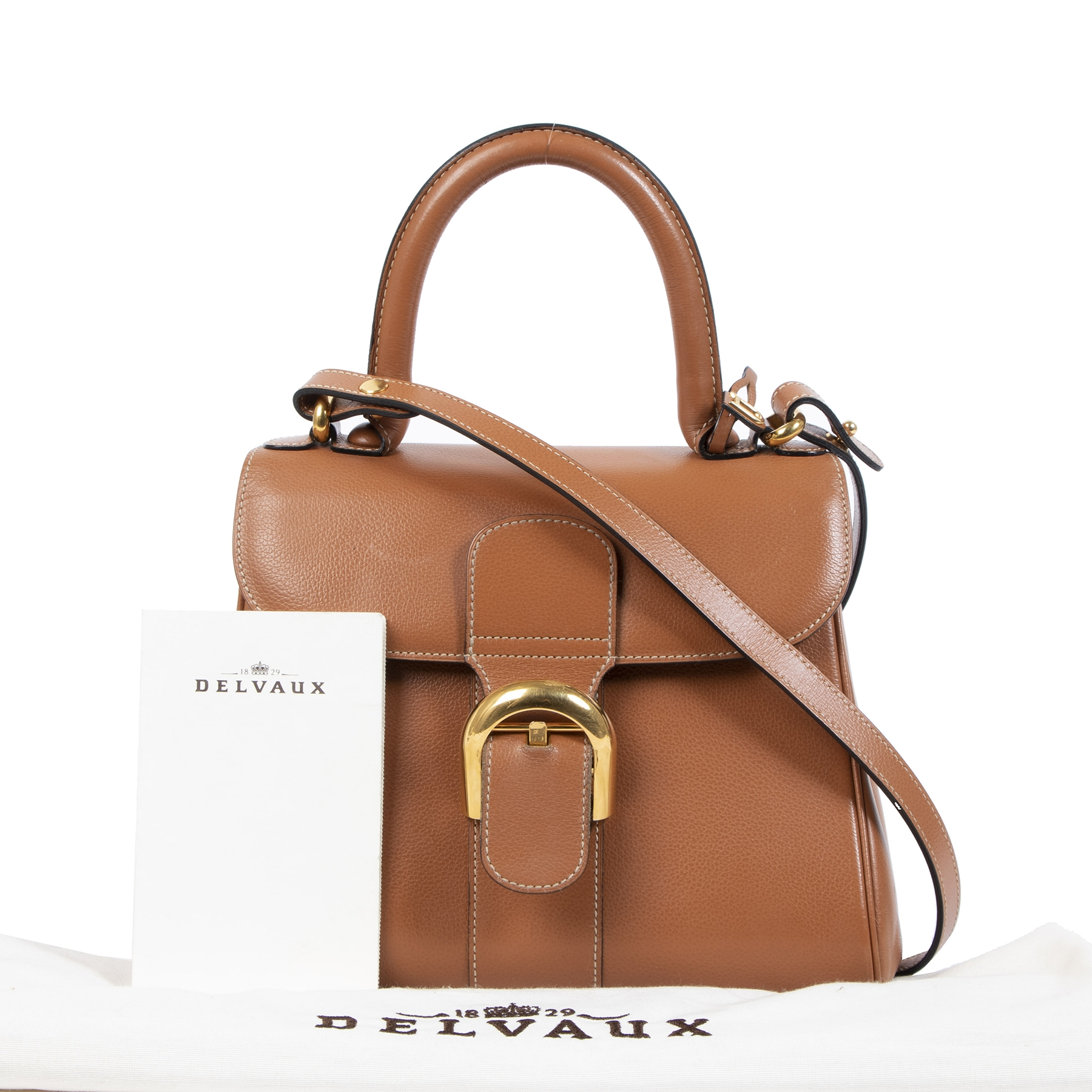skip the waiting list shop safe online Delvaux Fauve Brillant PM  + Strap