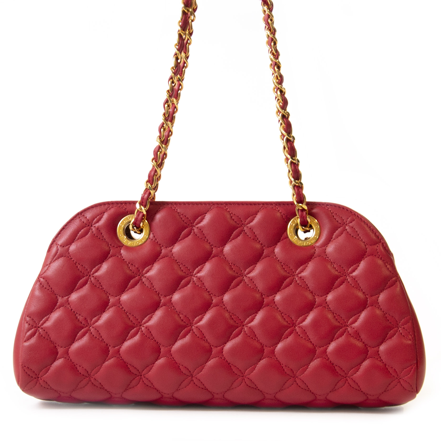 Authentieke tweedehands vintage Chopard Red Imperiale Bag koop online webshop LabelLOV