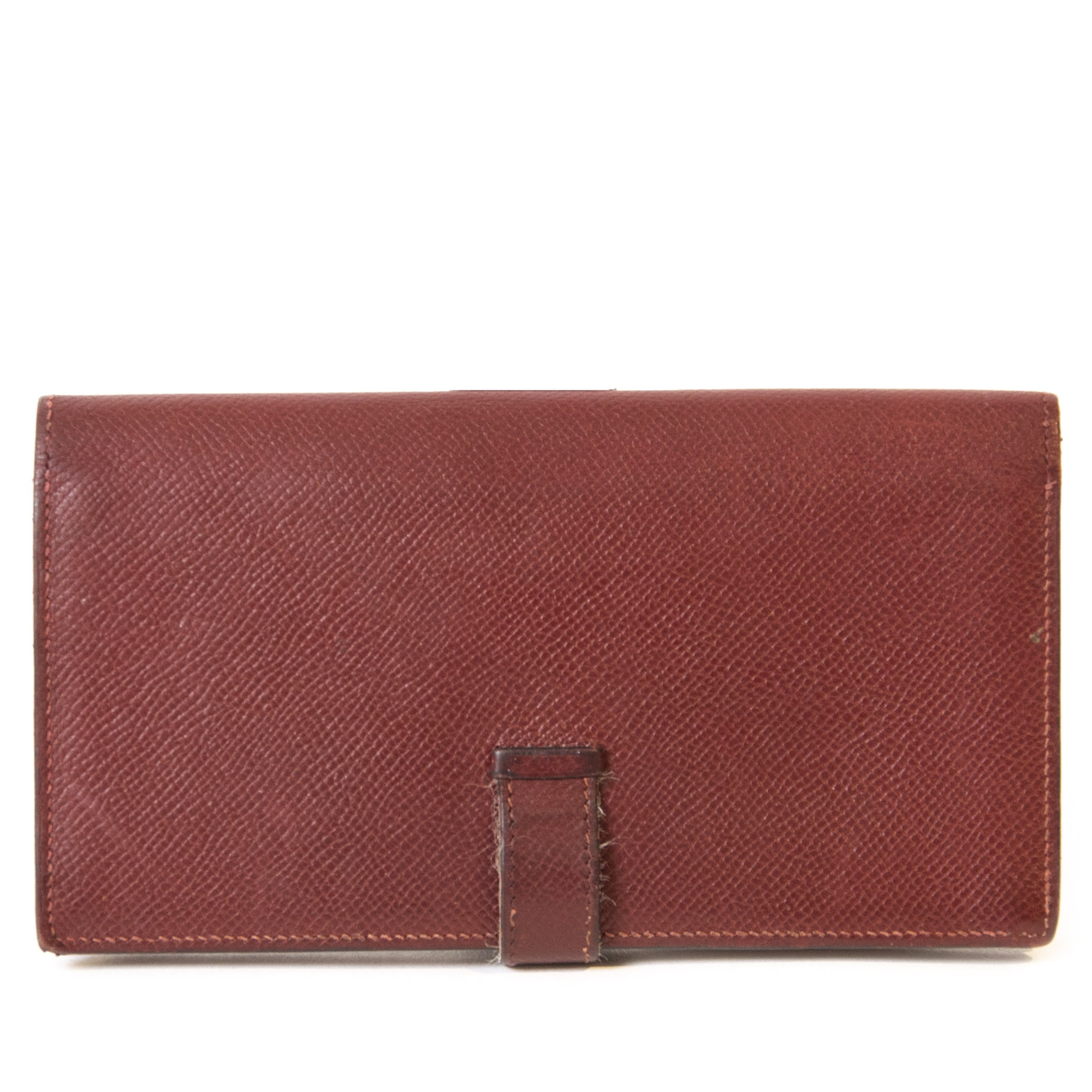 Hermes Bordeaux Epsom Leather Bearn Bifold Wallet