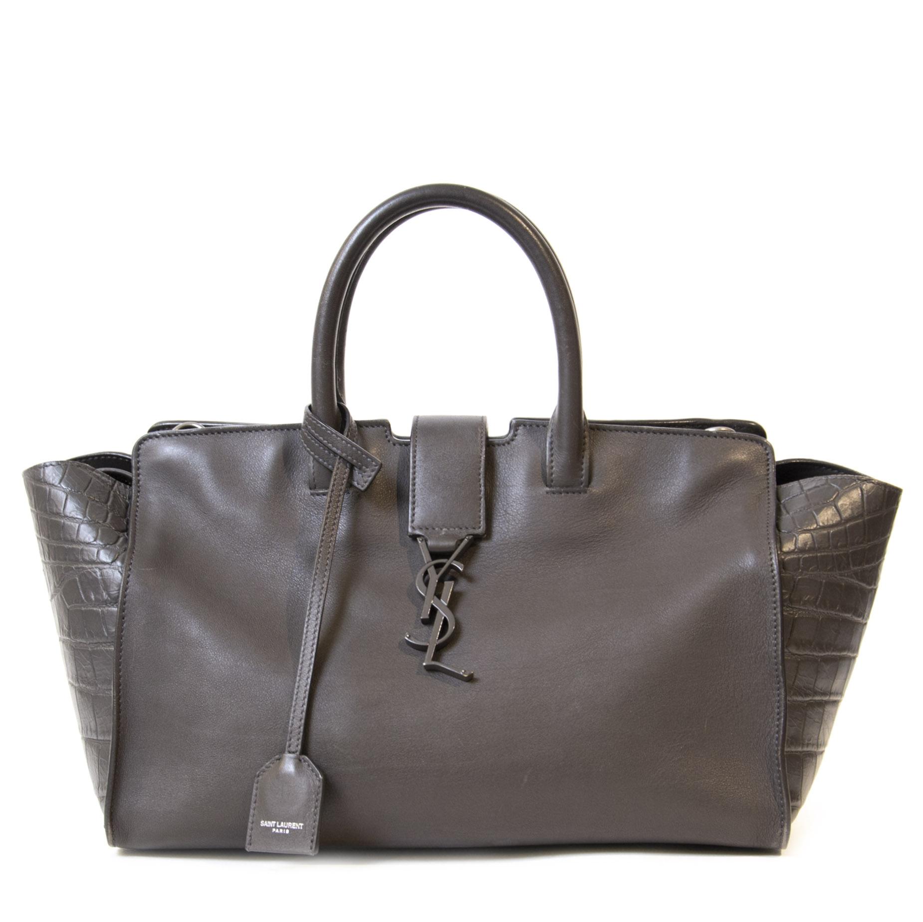 Authentieke Tweedehands Saint Laurent Downtown Small Cabas Bag juiste prijs veilig online winkelen luxe merken webshop winkelen Antwerpen België mode fashion