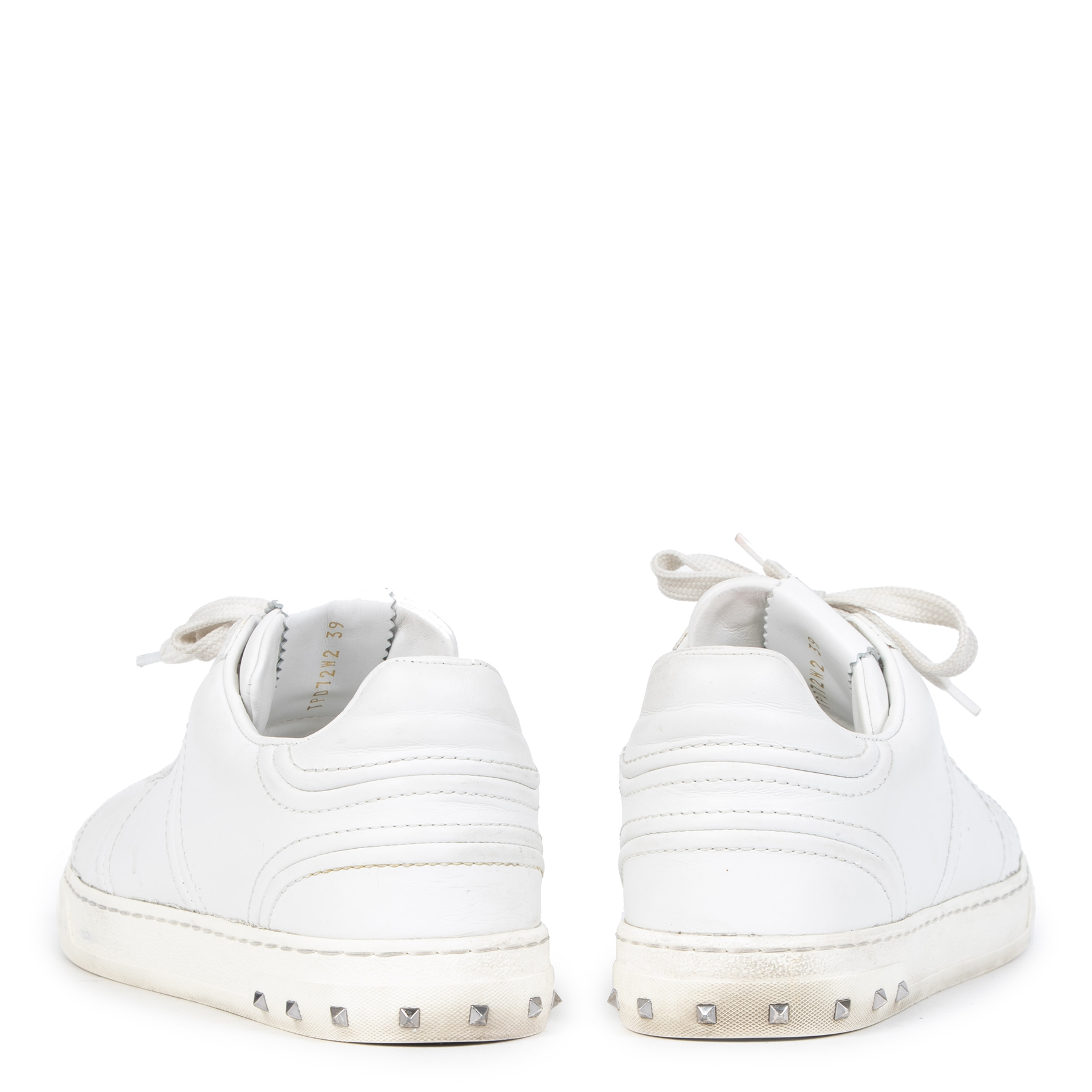 Authentieke tweedehands vintage Valentino White Fly Crew Lace-up Sneakers - Size 39 koop online webshop LabelLOV