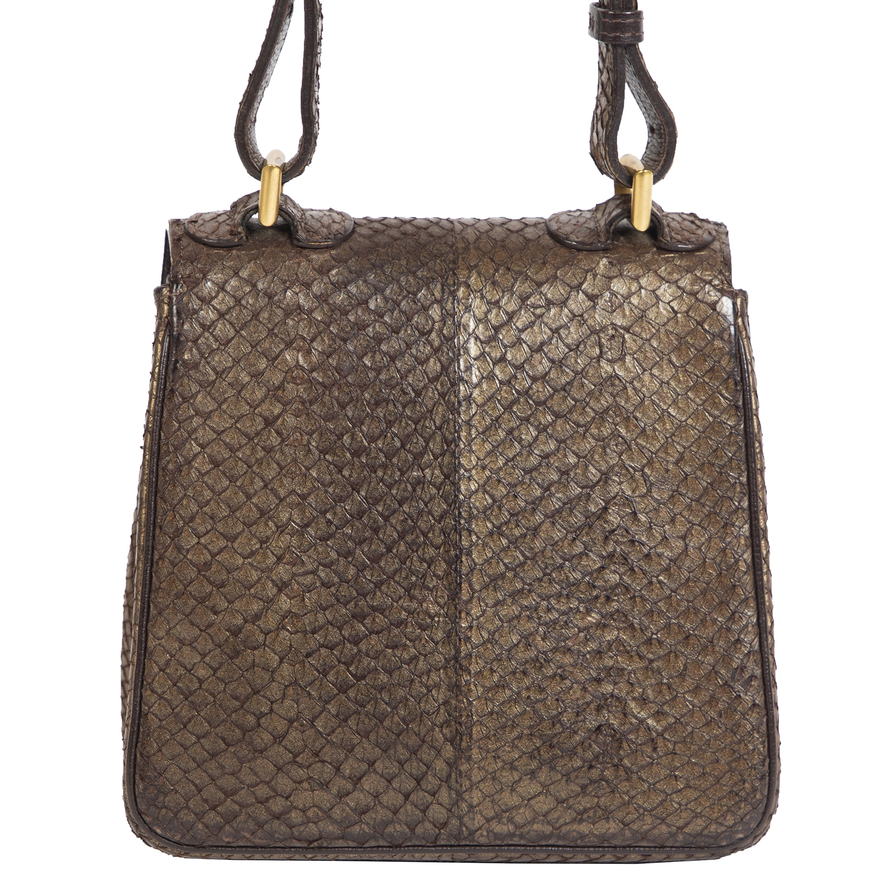 Delvaux Brillant XS Chestnut Exotic Leather Crossbody Bag
