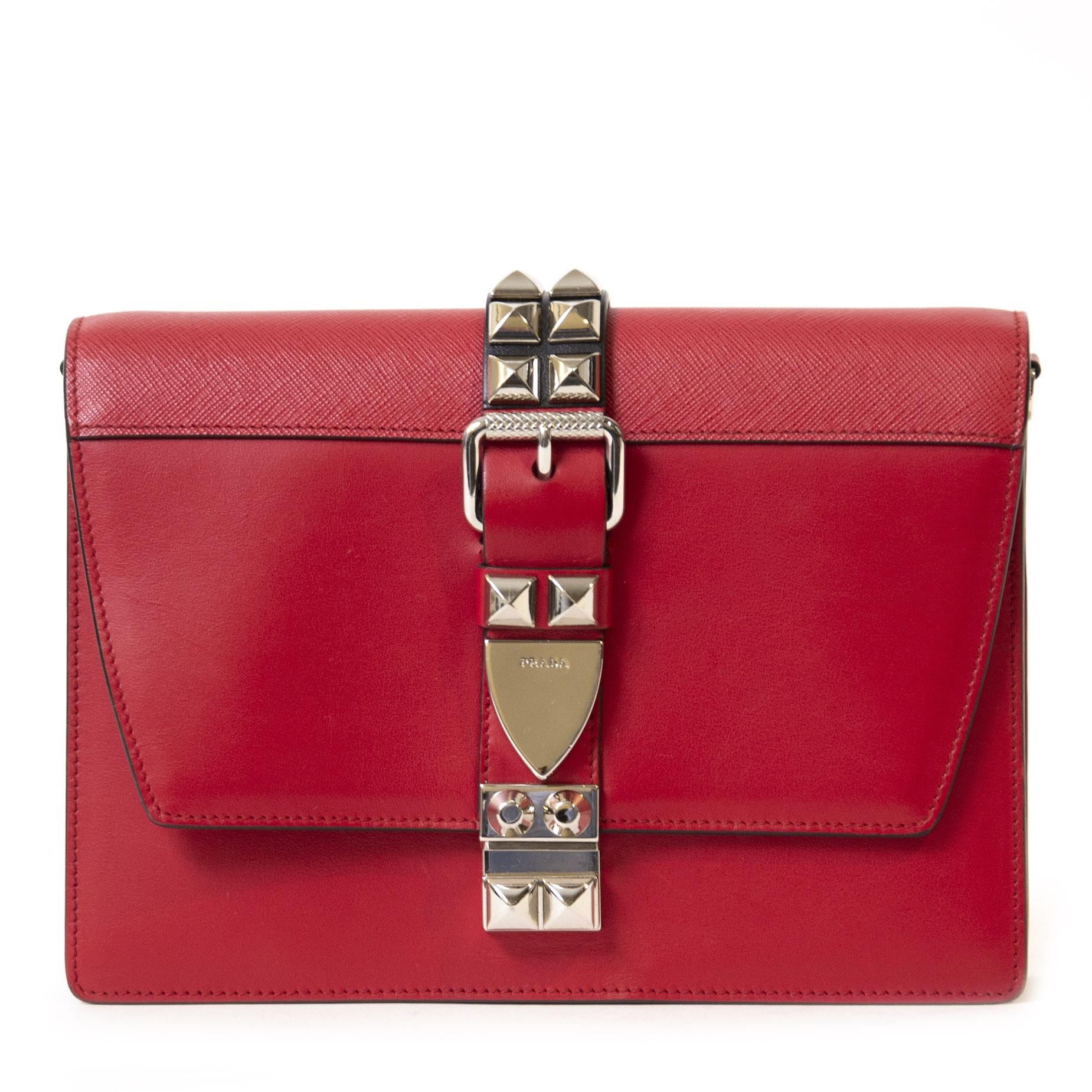 Authentieke Tweedehands Prada Elektra Small Bag juiste prijs veilig online shoppen luxe merken webshop winkelen Antwerpen België mode fashion