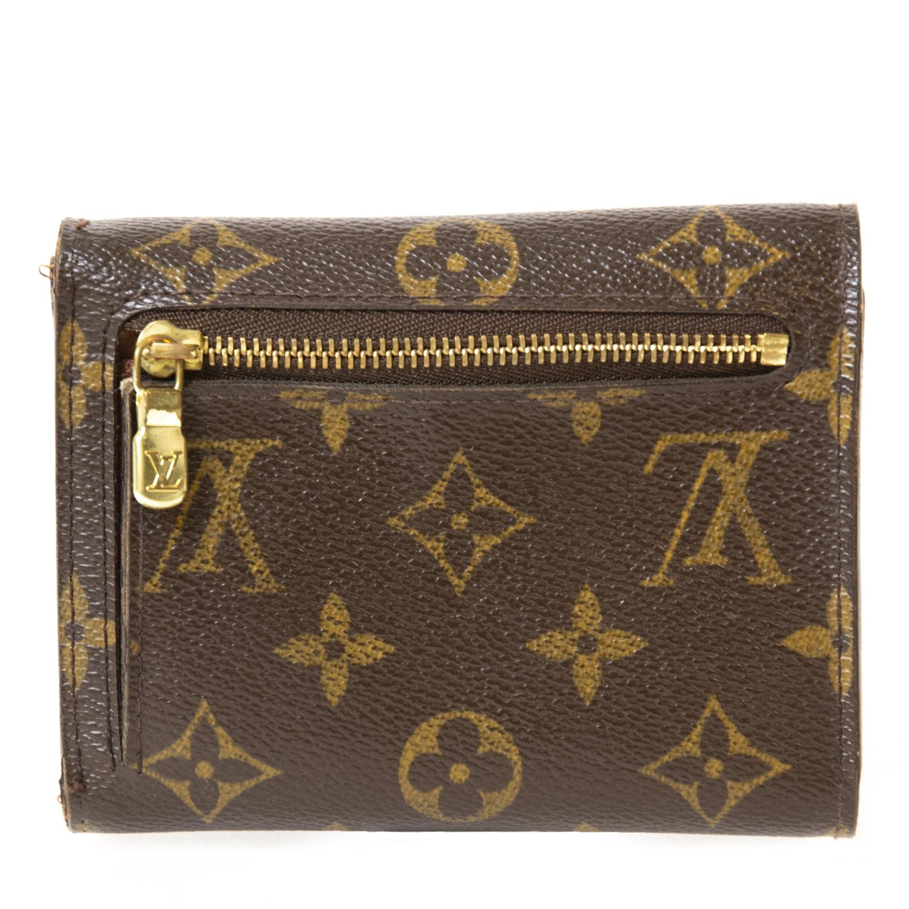 Authentieke Tweedehands Louis Vuitton Monogram Joey Wallet juiste prijs veilig online shoppen luxe merken webshop winkelen Antwerpen België mode fashion