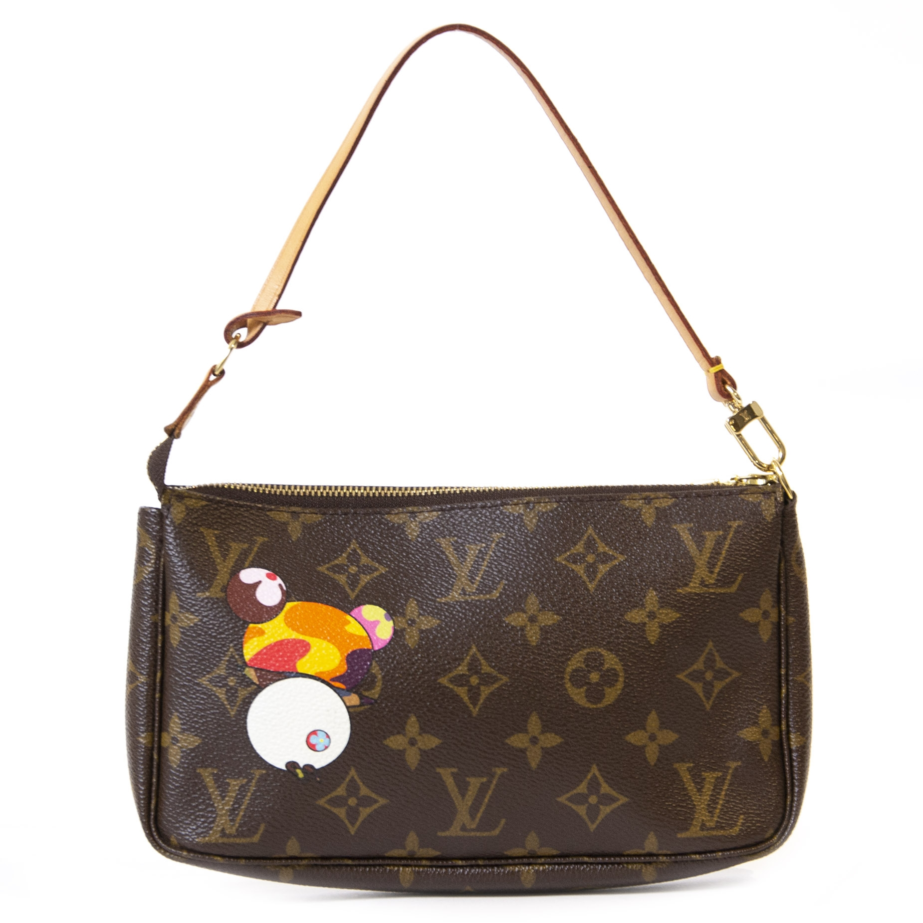 Authentieke Tweedehands Louis Vuitton Monogram Limited Edition Murakami Panda Pochette Bag juiste prijs veilig online winkelen luxe merken webshop winkelen Antwerpen België mode fashion