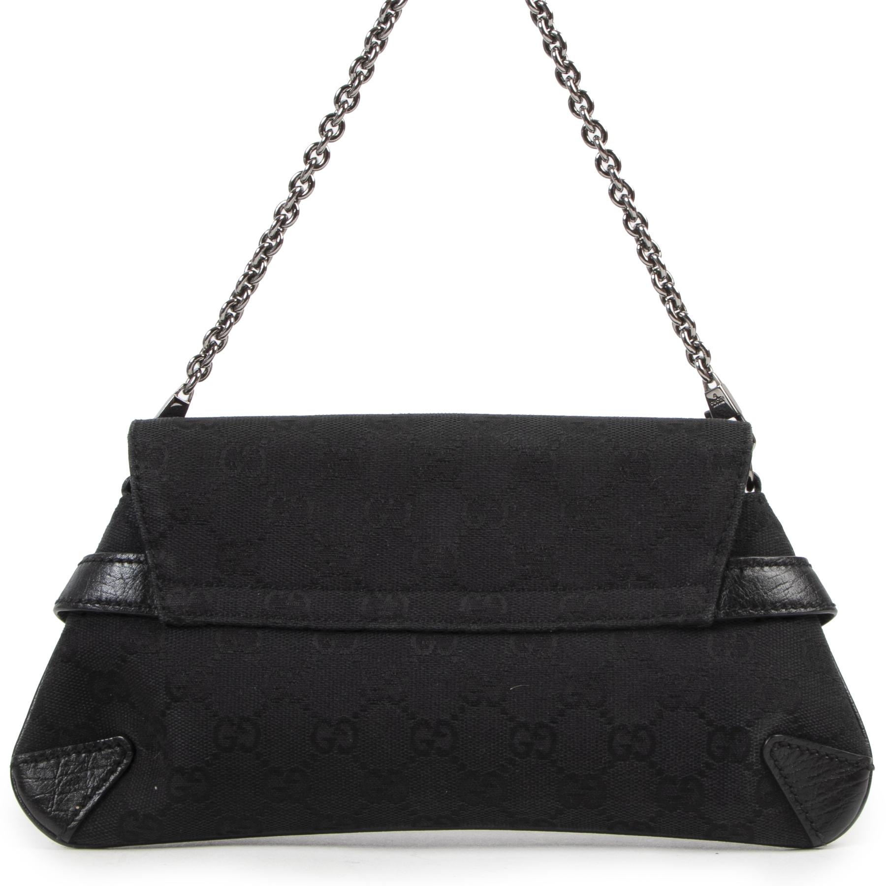 Gucci Black GG Horsebit Shoulder Bag aan de beste prijs bij Labellov tweedehands luxe